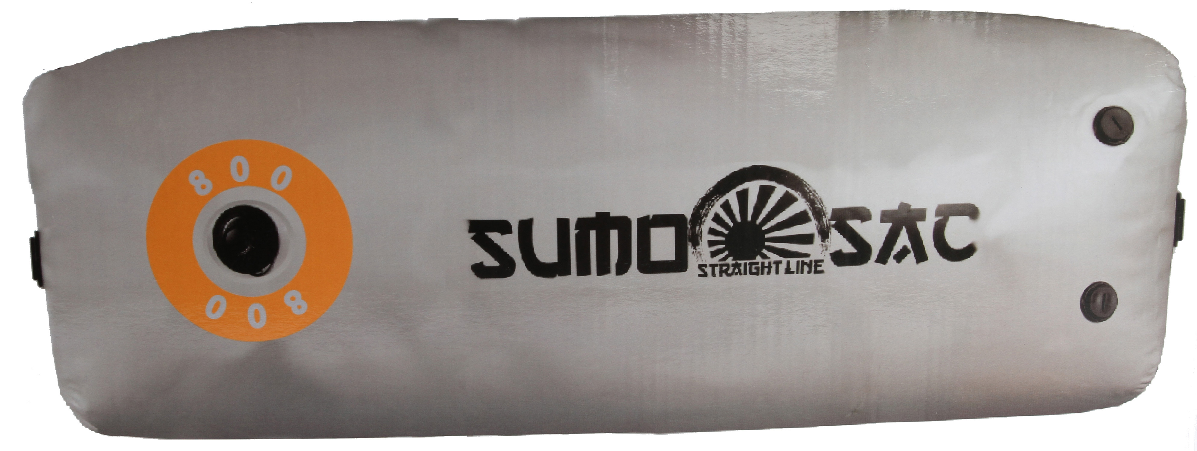 "Straight Line's mission is to give you options for creating larger wakes so you can have as much fun as possible. The SUMO Sacs are easy to use, durable and convenient. It is designed to work as a Plug a ~N Play option with your factory ballast system or on deck with our SUMO pumps. We offer an extensive selection of ballast to fit any boat and budget.* Size: 65""L x 18""W x 18""H * Capacity: 800lbs. * Ports: 1 LINK Valve * 3 NEW 1"" NPT Ports * SUMO Skin 1000D: SUMO Sacs are made with our own flexible and puncture-resistant fabric, a oeSUMO Skin.a  It has a durable 1000D polyester core that is heat laminated to lightweight PVC skins with a bonding agent. This sandwich construction is 150% stronger in tearing tests and 37% higher in tensile strength than our competitors, making it the most durable ballast bag available. * SUMO Seams: Every SUMO sac is double welded to ensure a watertight seal. Our tough SUMO Skin is overlapped and hot air welded. You can see the smooth and clean seams on the outside of every bag, and a second welding operation applies an inch wide sealing tape to the inside of every seam. * LINK Valve: Our unique LINKTM system provides a hassle free connection to your Sumo Pump, keeping your boat dry on the inside. The LinkTM Valve is watertight and can also be used as a convenient way to purge air from your bag. * 1a NPT Valves: NEW and Improved threaded valves provide a perfect water tight seal, and have been pressure tested up to 6 PSI. Our 1a  NPT ports allow built in ballast systems to fill, drain and vent quickly for hassle free operation. - $134.95"