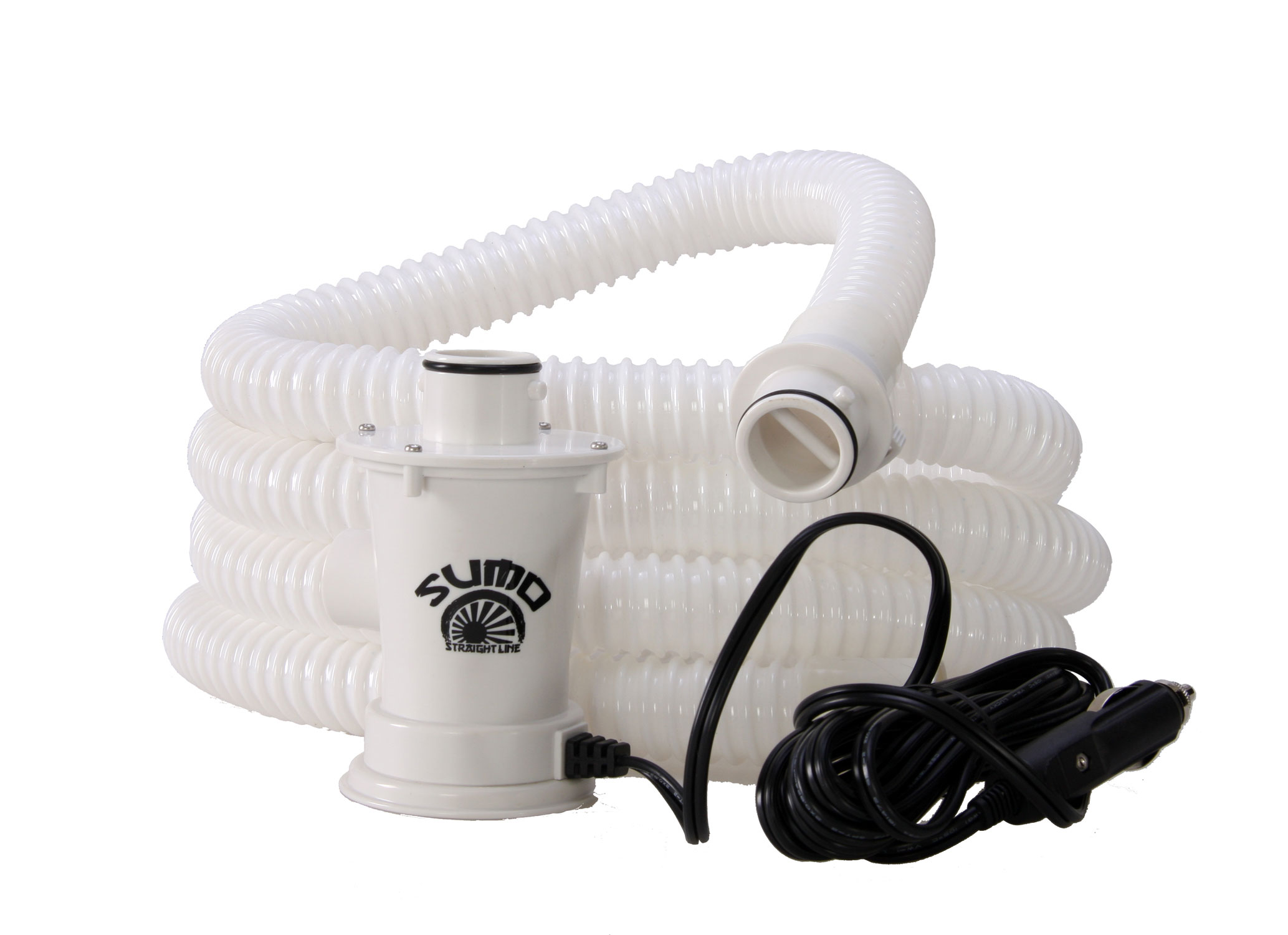 Key Features of The Straight Line Sumo Pump: Fills 100 Pounds in 55 Seconds 9 Foot, PVC Armor Hose will Not Kink or Crush 12 Foot, Fused 12V Power Cord for Easy Access Anywhere - $89.99