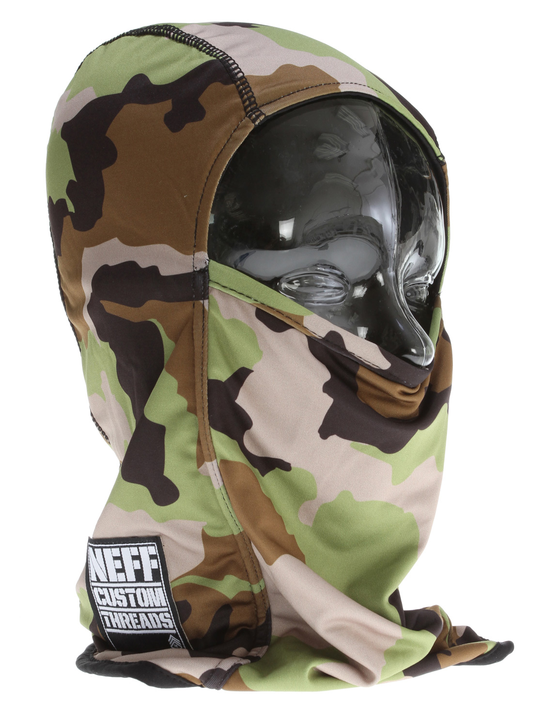 Skateboard Key Features of the Neff Balaclava Facemask Camo: 96% Polyester, 4% Spandex - $30.00