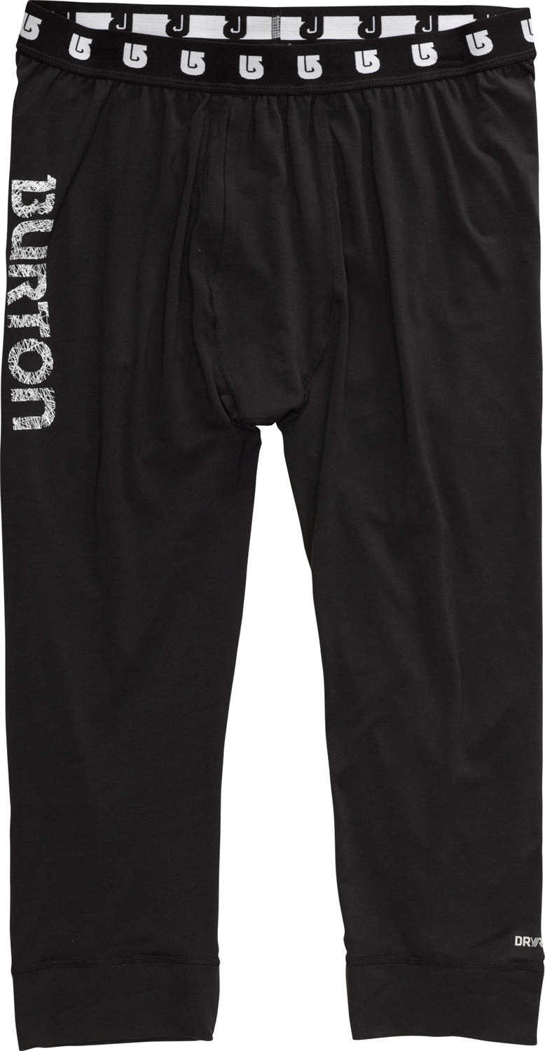 Snowboard Odor-eating quick-drying warmth focused where it matters most.Key Features of the Burton Midweight First Layer Pants: DRYRIDE Ultrawick Quick Drying/High Breathable Stretch 360 Stink Proof microbial finish Chafe-free Softlock (seams for comfort) Ideal for year-round outdoor activity - $39.95