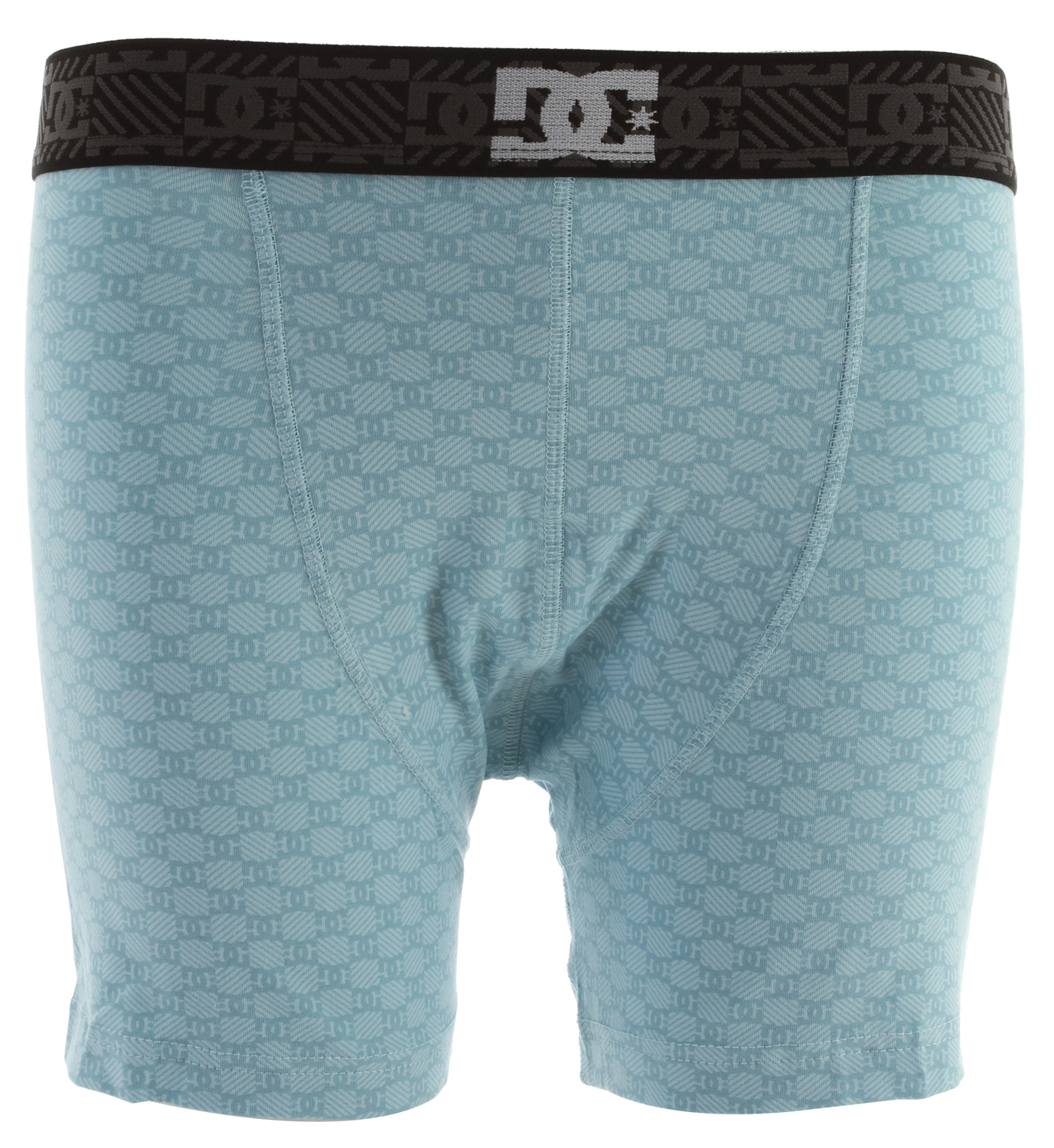 Knit Boxer 90% Cotton/10% Spandex Knit boxer with contrast large logo on a bias at side of boxer jacquarded monogram waistband with front DC logo - $9.95