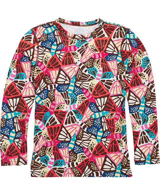 Snowboard This colorful, and bold shirt is perfectly comfortable and cozy. The Burton Heartbreak Thermal Crew is made with dryride ultrawick mesh. Featuring an interesting butterfly design, it's surely eye-catching. Super breathable and and quick drying, be sure to stay extra comfortable and dry all day long. Material so soft, you'll want to wear it all the time.Key Features of the Burton Heartbreak Thermal Crew: DRYRIDE Ultrawick Brushed Closed Cell Mesh Quick-Drying and Highly Breathable Stretch 180 degrees- Strap In Without Your Shirt Un-Tucking Anti-Pilling for Long-Lasting Softness Chafe-Free Softlock Seams for Co - $17.95