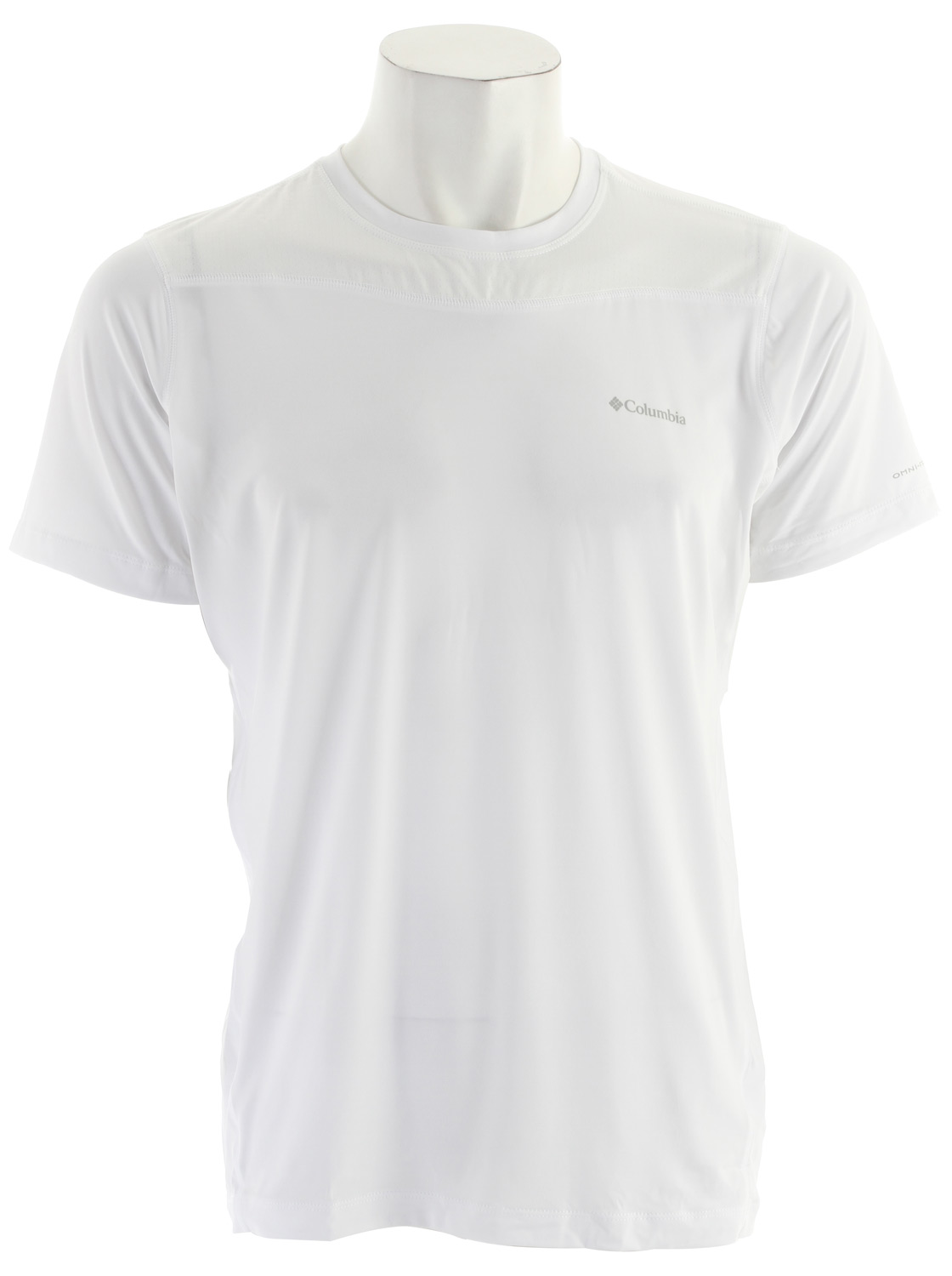 Columbia Mens Base Layer Lightweight S/S Top is an awesome base layer top for hot summer days or aerobic training workouts.  The 4-way stretch ability makes any activity comfortable. Besides the cooling advantages that the Omni-Freeze ICE advanced cooling system provides with this top, the Lightweight S/S top provides protection against chafing and irritation during your active movement activities due to the anti-perspiration features of the Omni-Wick design. Additional benefits include the ergonomic seaming, it is antimicrobial and it is designed for FIT Performance.  FABRIC 90% polyester/10% elastane.   FIT Performance   Omni-Freeze ICE advanced cooling   Omni-Wick   Antimicrobial   4-way comfort stretch   Ergonomic seaming - $32.95