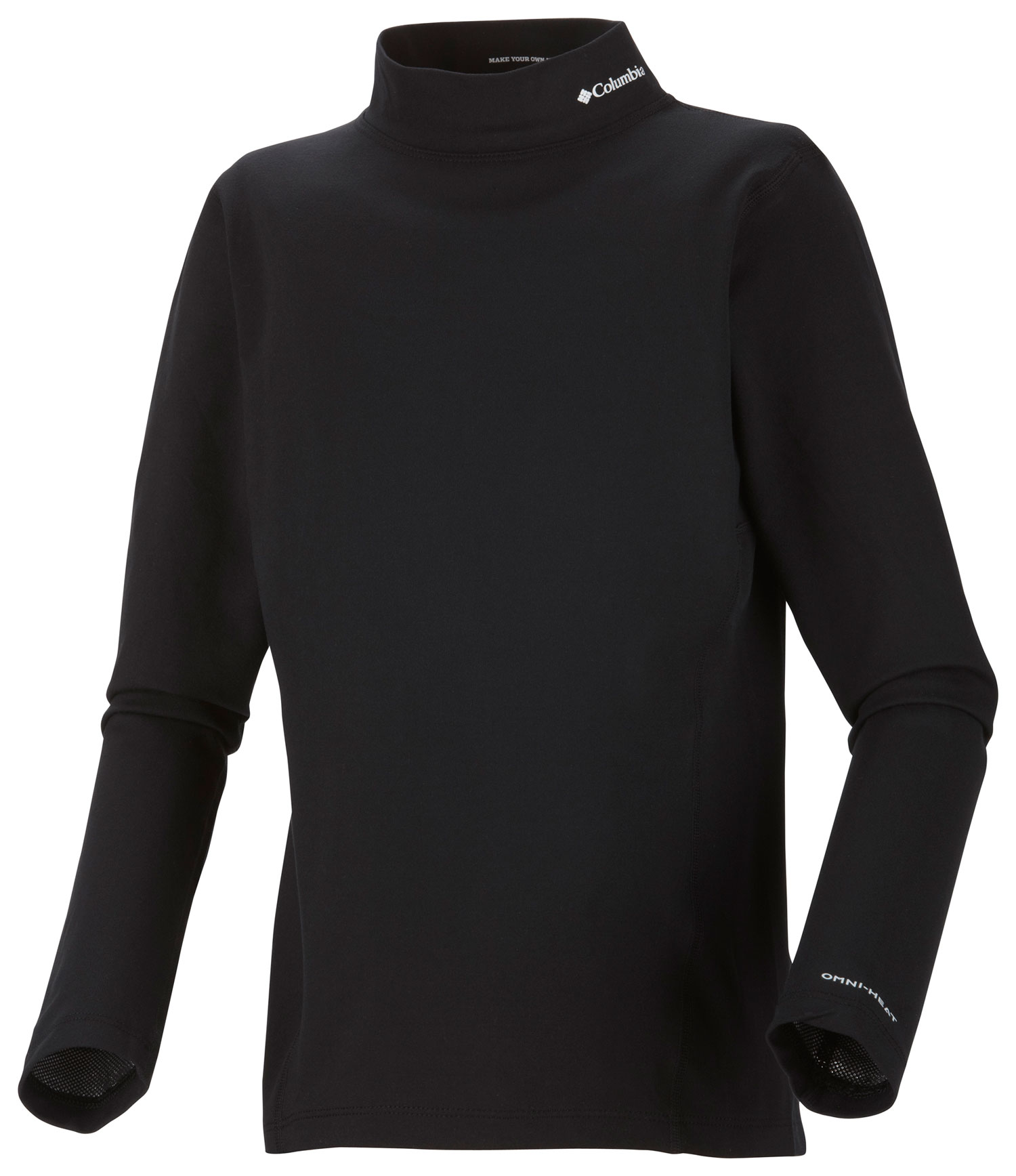 Key Features of the Columbia Baselayer Midweight Mock Neck L/S Top: FABRIC 85% polyester/15% elastane re?ective print jersey. Omni-Heat thermal re?ective Omni-Wick Antimicrobial - $28.95