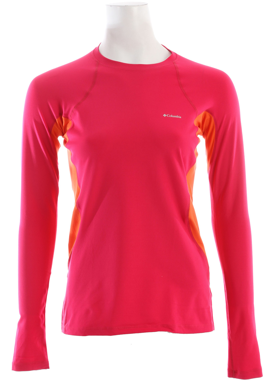 With thermal reflectivity for lightweight warmth and sweat-wicking inserts, this midweight top is the ideal all-day baselayer for aerobic activity. Finely tuned ergonomic seaming cuts a sleek, comfortable-wearing silhouette. Key Features of the Columbia Midweight L/S Baselayer Top: Omni-Wick inserts keep you dry and comfortable Omni-Heat thermal reflective lining for lightweight, breathable warmth Performance fit Antimicrobial 4-way comfort stretch and ergonomic seaming Fabric: Omni-Wick inserts under arms and at side torso Omni-Heat thermal reflective lining 85% polyester/15% elastane sweet rev. - $43.95