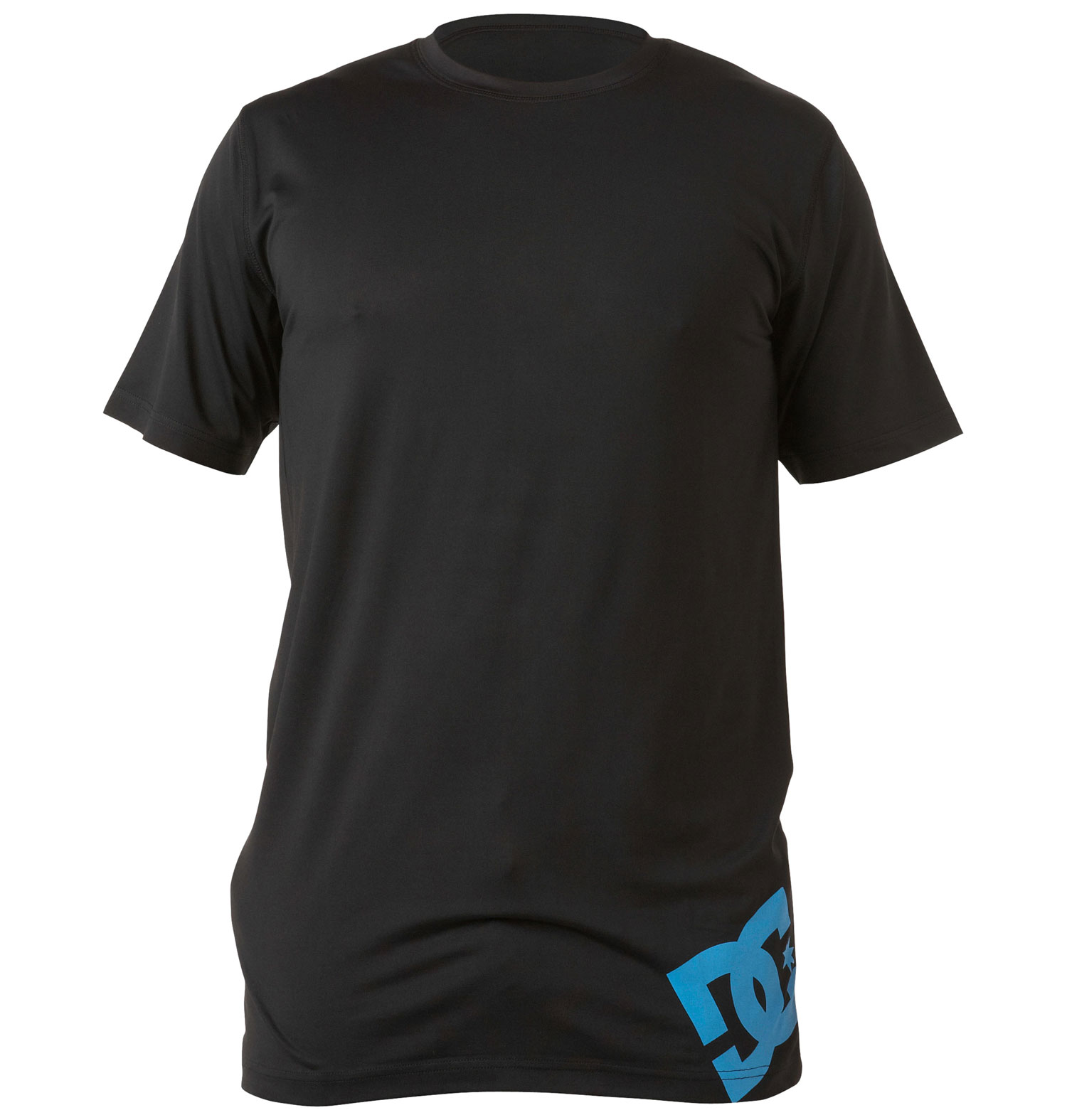 Short sleeve crew neck 1st layer shirt with moisture wicking properties and logo screen print at bottom side hem.Key Features of the DC Aravis Baselayer Top: Long fit 90% polyester / 10% spandex - $35.00