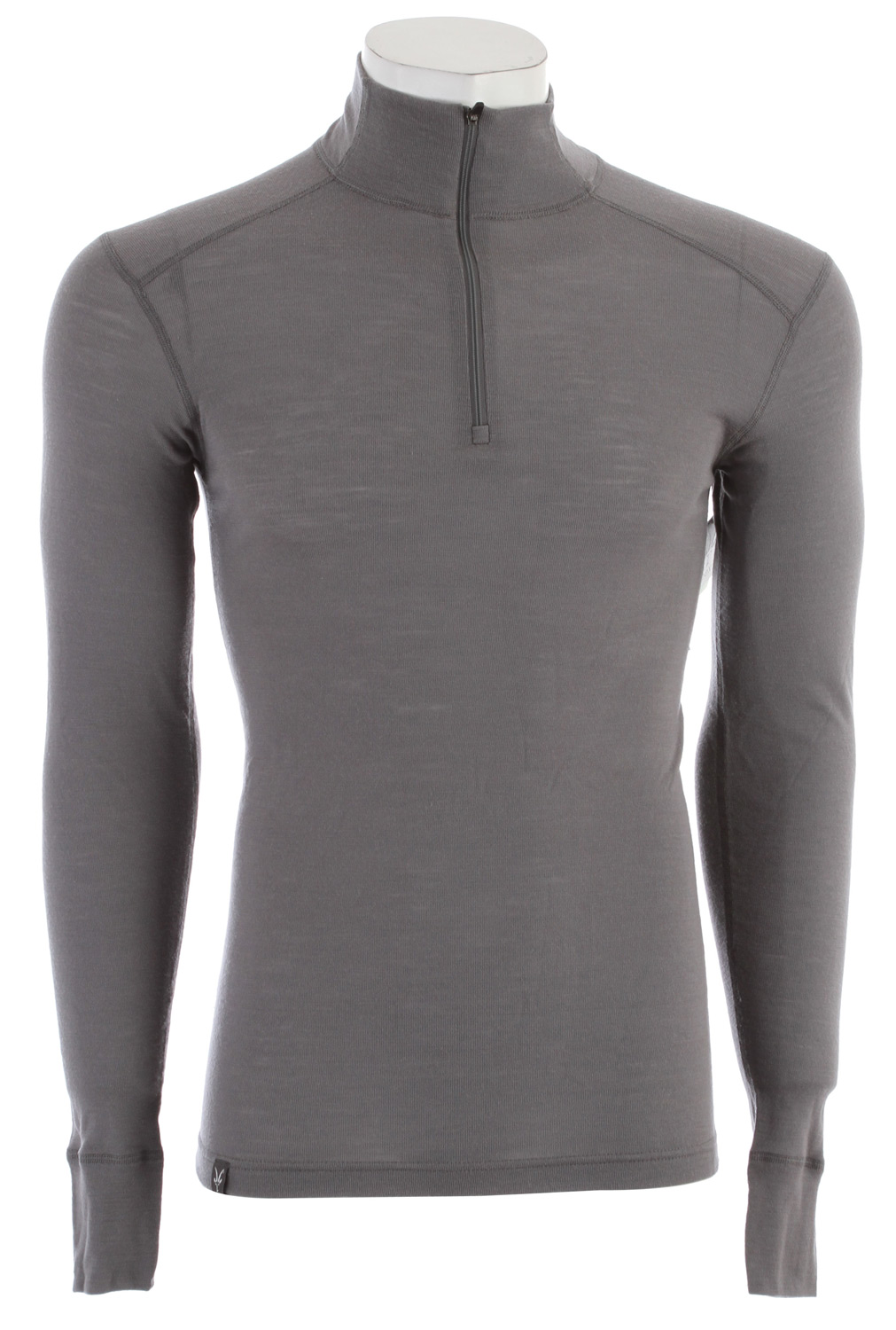 "Tightened up to the chin, the 18.5 micron New Zealand Merino wool fabric forms a perfect 150g/m2 baselayer weight with a versatile Zip T top. You'll reach for this one over and over. Key Features of the Ibex Woolies 150 Zip T Baselayer Top: Lightest Ibex base layer Form-fit Set-in sleeves Flatlock seams 9"" Zip Neck w/ locking zipper pull Wide sleeve cuff details Tag-free labels Made in Canada Lightweight rib knit 18.5 micron 100% Zque New Zealand Merino wool 150 g/m2 Garment Weight (oz): 7.04 - $84.95"