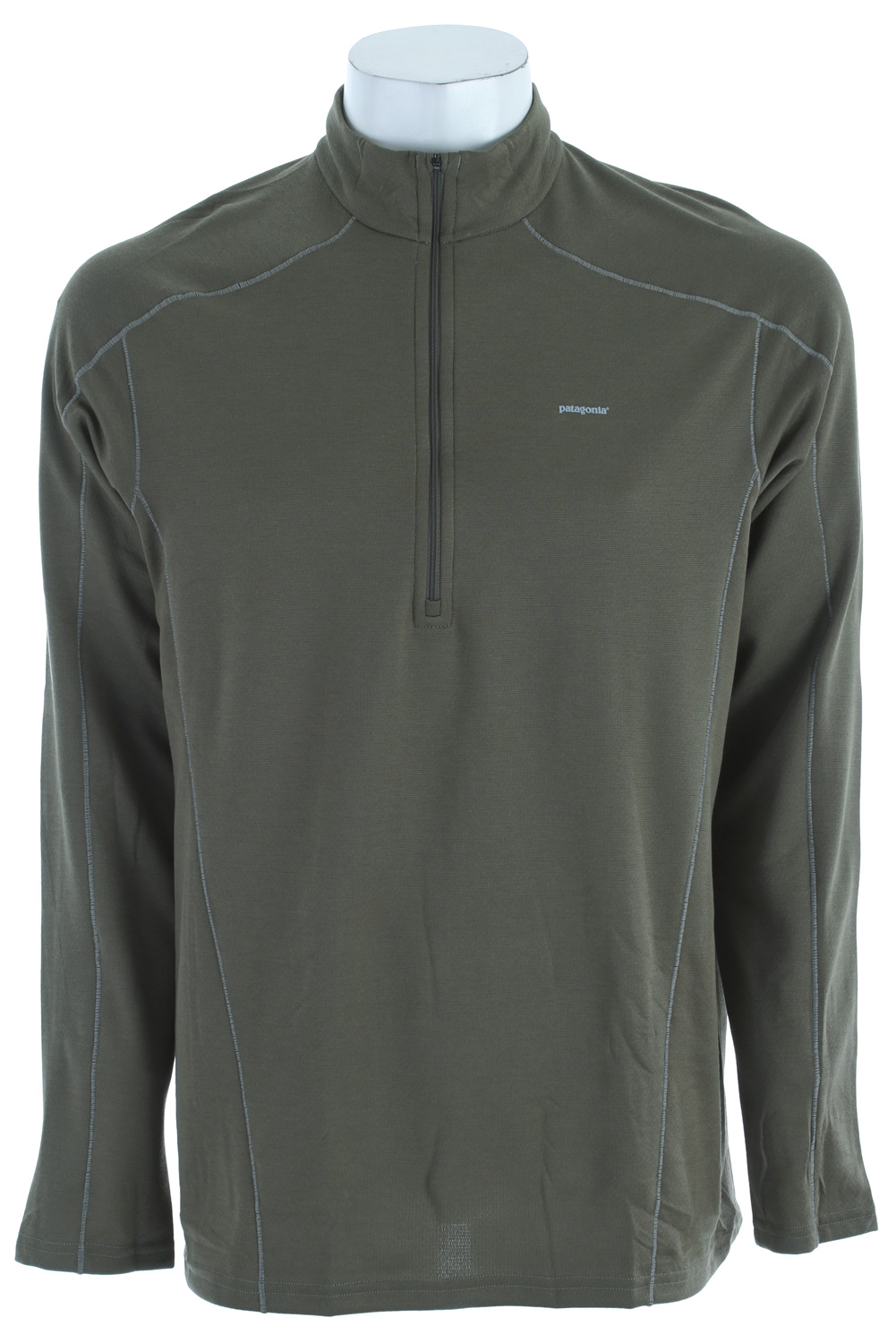 Our most versatile synthetic baselayer keeps you dry and warmKey Features of the Patagonia Capilene 3 Midweight Zip-Neck Baselayer Top: Stretchy, double-weave fabric wicks extremely well Durable smooth jersey face slides easily beneath layers Fabric is brushed for warmth, softness and compressibility; provides excellent insulation and breathability Zip-neck for easy climate control is backed by draft flap and zipper garage Raglan sleeves and single-piece shoulder panel merge out of the way of pack straps Side seams are rolled forward for comfort under hip belt Machine-wash cold, tumble dry at low temperature Slim fit (9.2 oz) 261 g fabric: Solids: 5.4-oz Polartec Power Dry 100% polyester double knit (65% recycled). Heathers: 5.4-oz Polartec Power Dry 100% polyester double knit (51% recycled), both with Gladiodor odor control for the garment - $39.95