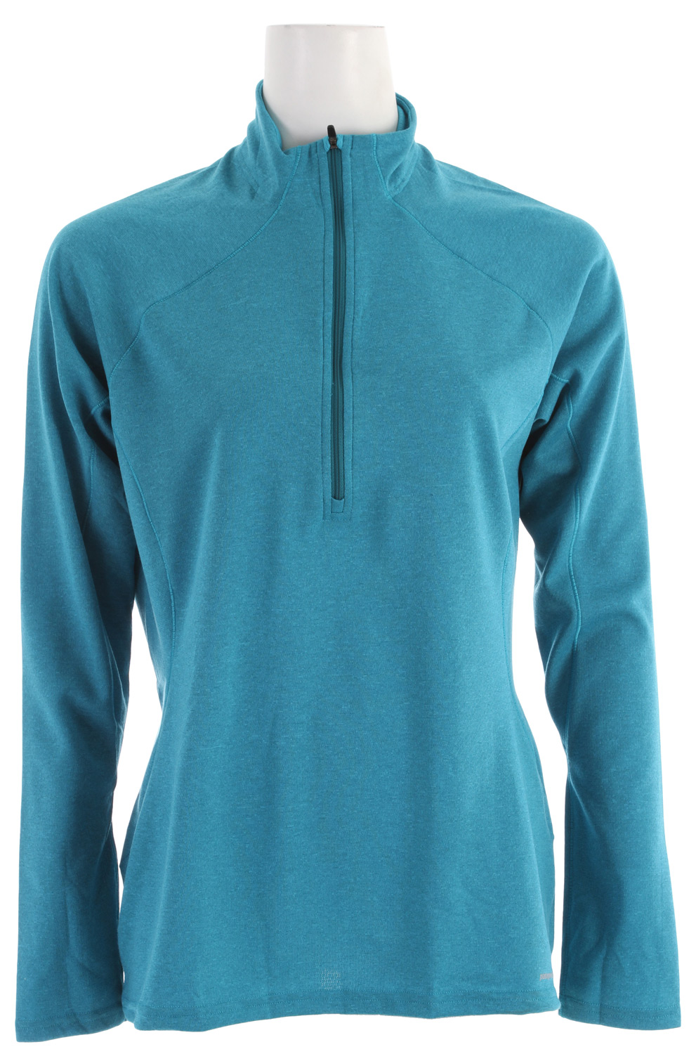 Our most versatile synthetic baselayer keeps you dry and warmKey Features of the Patagonia Capilene 3 Midweight Zip-Neck Baselayer Top Narwhal Grey - Fog Xdye: Stretchy, double-weave fabric wicks extremely well Durable smooth jersey face slides easily beneath layers Fabric is brushed for warmth, softness and compressibility; provides excellent insulation and breathability Zip-neck for easy climate control is backed by kissing welts for low-bulk comfort next to skin Raglan sleeves and underarm panels placed strategically to provide full range of motion and comfort under layers Straight hem; cut long enough to tuck in Machine-wash cold, tumble dry at low temperature Slim fit (7.7 oz) 218 g fabric: Solids: 5.4-oz Polartec Power Dry 100% polyester double knit (65% recycled). Heathers: 5.4-oz Polartec Power Dry 100% polyester double knit (51% recycled), both with Gladiodor odor control for the garment - $34.95