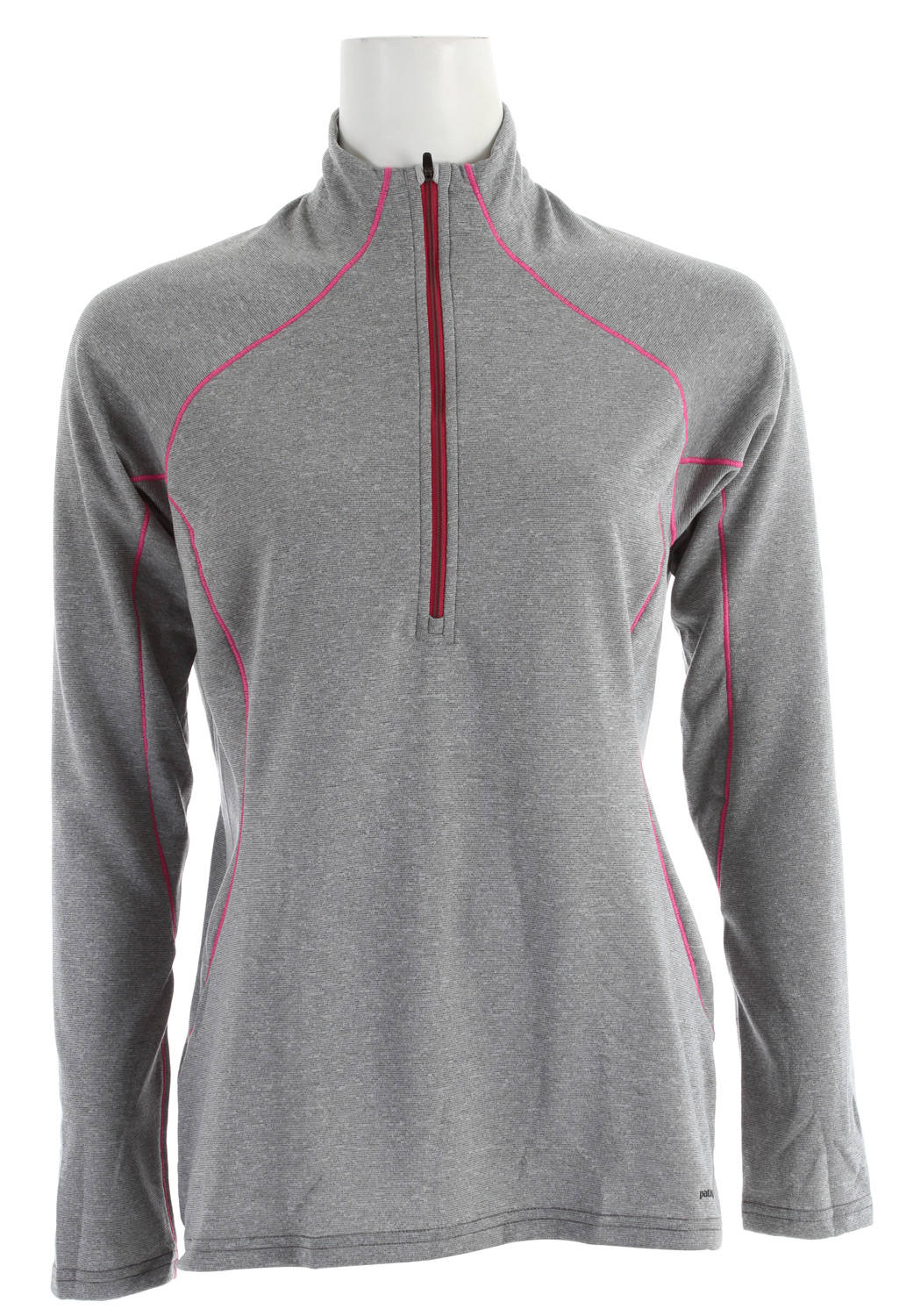 Our most versatile synthetic baselayer keeps you dry and warmKey Features of the Patagonia Capilene 3 Midweight Zip-Neck Baselayer Top Narwhal Grey - Fog Xdye: Stretchy, double-weave fabric wicks extremely well Durable smooth jersey face slides easily beneath layers Fabric is brushed for warmth, softness and compressibility; provides excellent insulation and breathability Zip-neck for easy climate control is backed by kissing welts for low-bulk comfort next to skin Raglan sleeves and underarm panels placed strategically to provide full range of motion and comfort under layers Straight hem; cut long enough to tuck in Machine-wash cold, tumble dry at low temperature Slim fit (7.7 oz) 218 g fabric: Solids: 5.4-oz Polartec Power Dry 100% polyester double knit (65% recycled). Heathers: 5.4-oz Polartec Power Dry 100% polyester double knit (51% recycled), both with Gladiodor odor control for the garment - $59.00