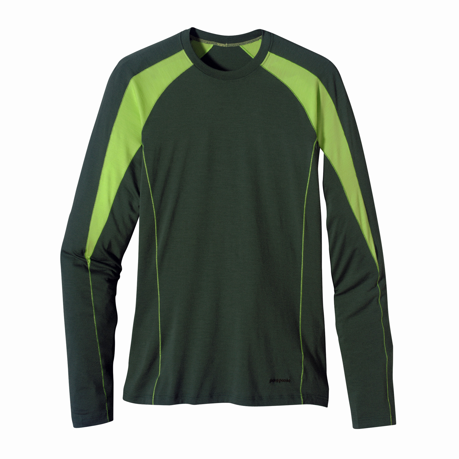 Patagonia's Merino 2 polyester blend keeps you dry and comfortable in cool to cold conditionsKey Features of the Patagonia Merino 2 LW Crew Base Layer Top: Merino wool/polyester blend keeps you dry and comfortable even when wet, is stronger and more durable than 100% wool, has a softer hand, naturally controls odor, and wicks perspiration 18.9 micron-gauge yarn and jersey-knit construction Self-fabric collar band for comfort Raglan sleeve seams won't chafe beneath pack straps Side seams offset to eliminate irritation Slow-washed without chlorine to prevent shrinkage, bluesign approved Machine-wash cold, tumble dry at low temperature Slim fit (4.7 oz) 190 g fabric: 4.87-oz 80% chlorine-free merino wool/20% polyester (100% recycled) - $49.95