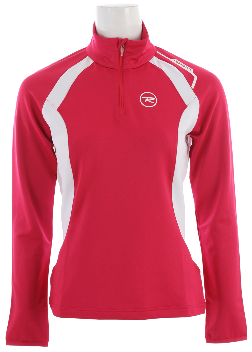 Rossignol Warm Stretch 1/2 Zip Baselayer Top Cochineal - $47.95