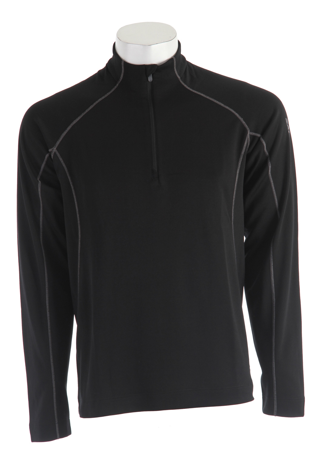 "Camp and Hike Next to skin layer that is wicking and quick drying, provides warmth for colder active sports.Key Features of the Salomon Superfleet Hz Midlayer Base Layer Top:  Smart Skin  ActiLITE Wool Poly  1/2 zip with stay down puller  Raglan sleeves  Flatlock seams  Body: PES 73%, WO 20%, PA 7%  Fit: Active  Center Back: 30.3"" - $54.95"