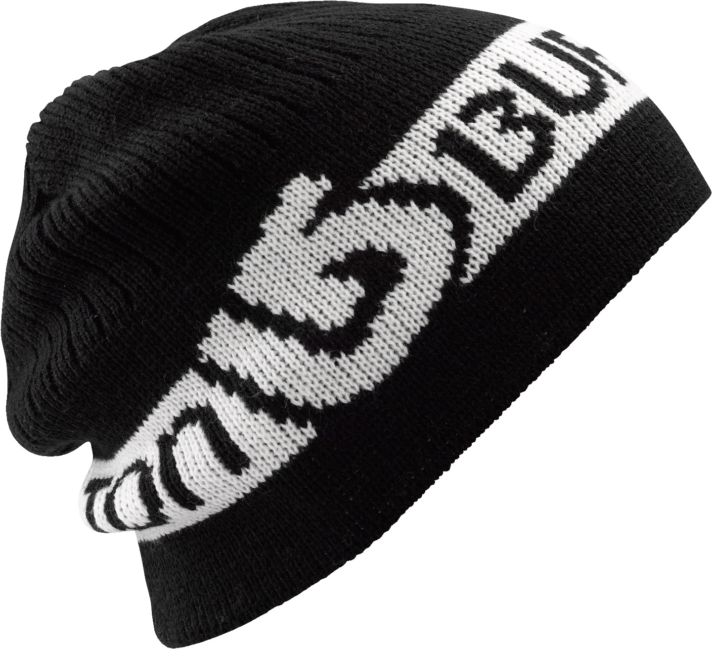 Snowboard Key Features of the Burton Dart Beanie: 100% Acrylic Allover Jacquard Bold Word Mark Slouch Fit - $25.00