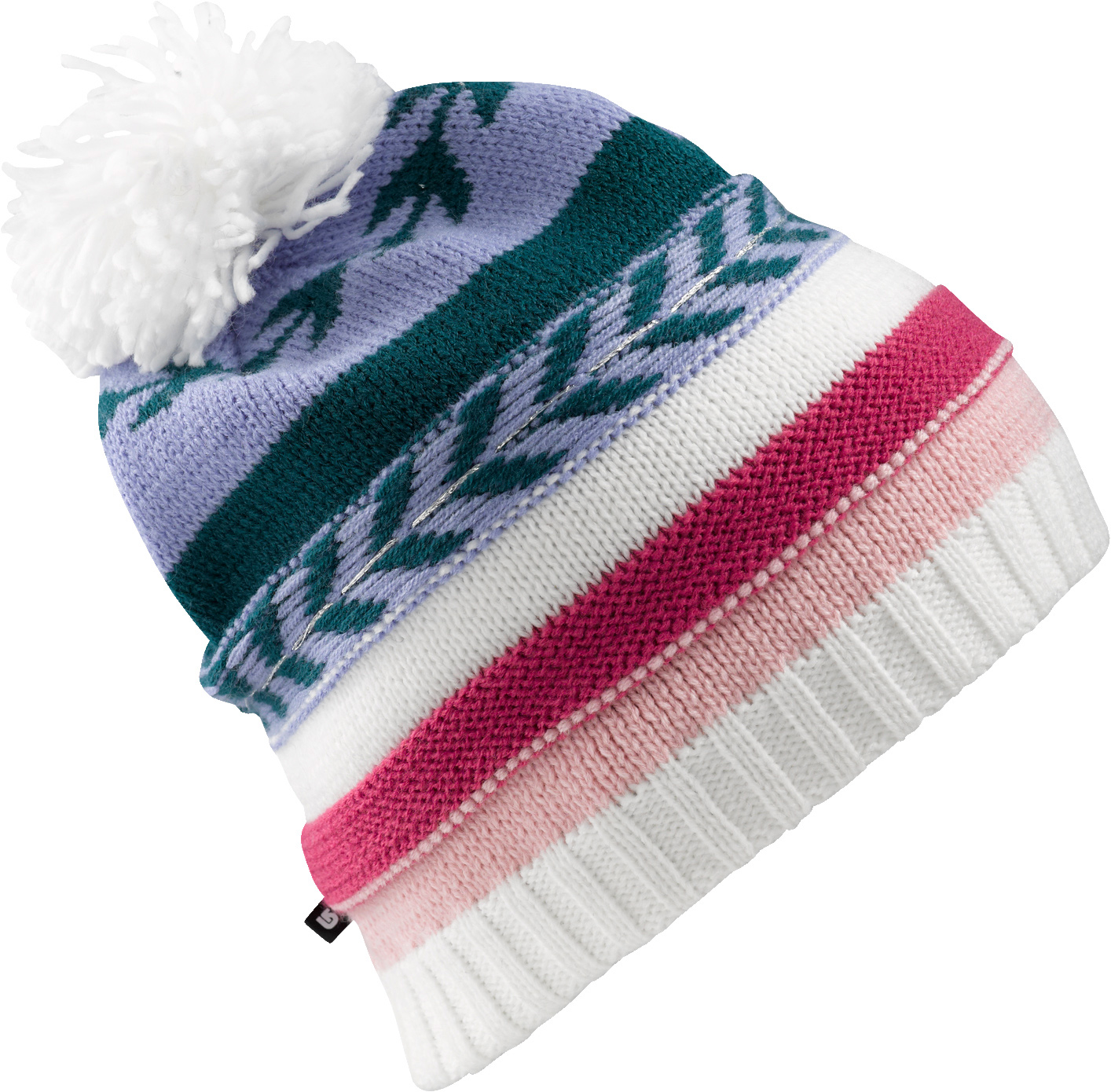 Snowboard Key Features of the Burton Dreamcatcher Beanie: 100% Acrylic with Lurex Detail Double Layer Multi Stripe Beanie with Pom Skully Fit - $31.00