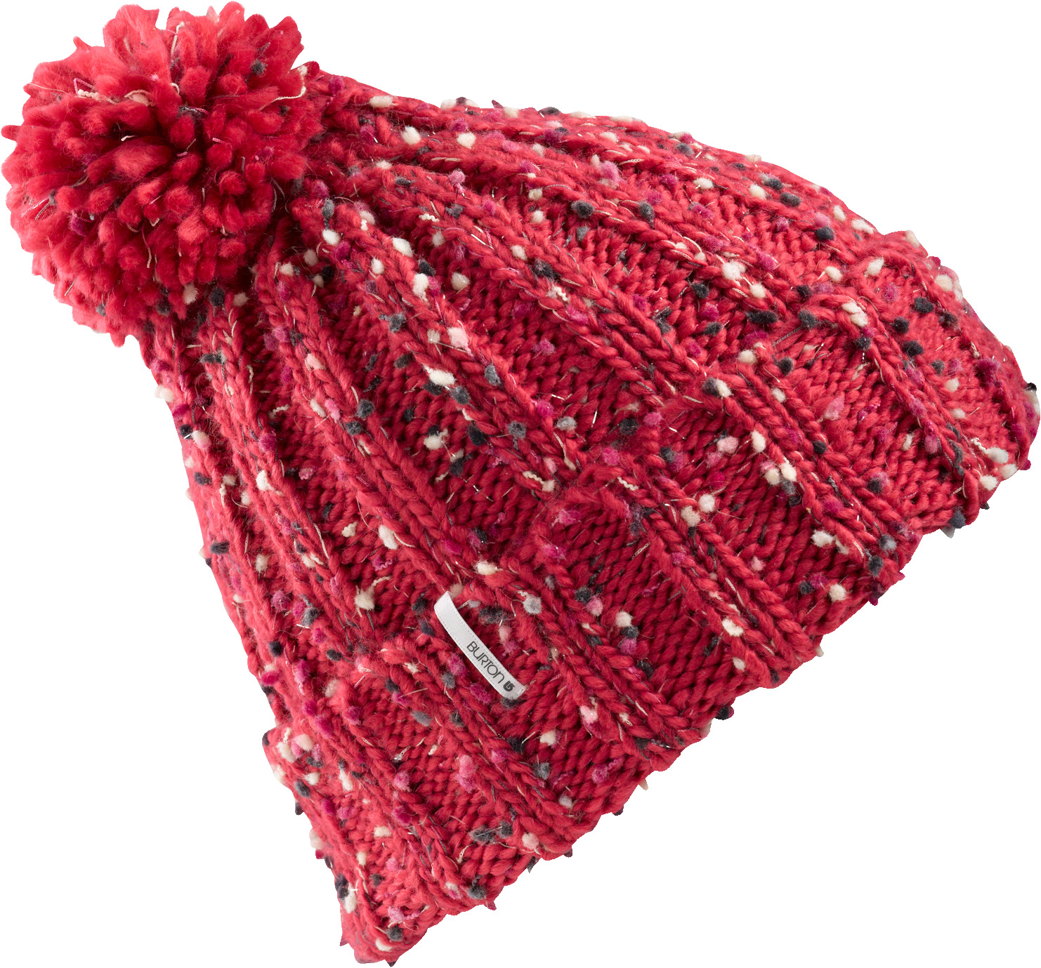 Snowboard Key Features of the Burton Mimi Beanie: 100% Acrylic Multicolored Textured Yarn Beanie with Pom Fold Up with Super Slouch Fit - $15.95