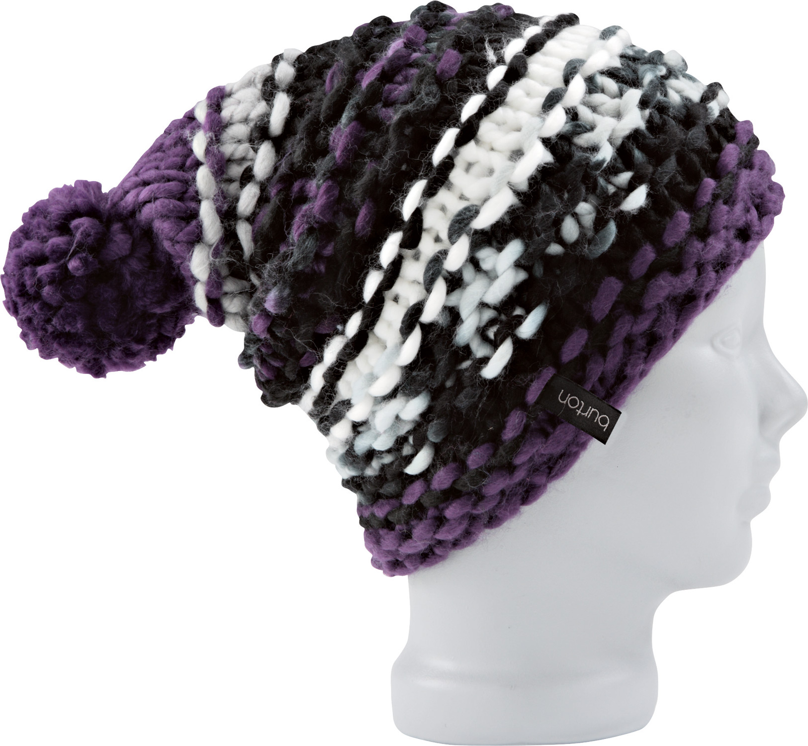 Snowboard Key Features of the Burton Nana Beanie: Skully Fit Chunky Hand Knit Beanie with Pom One Size Fits All 100% Acrylic - $26.95