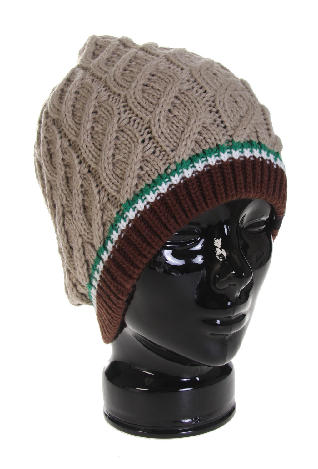 Snowboard The Burton Shanghai Surprise Beanie - 100% Acrylic / Textured Knit Beanie with Stripes at Opening / Slouchy Fit - $13.96