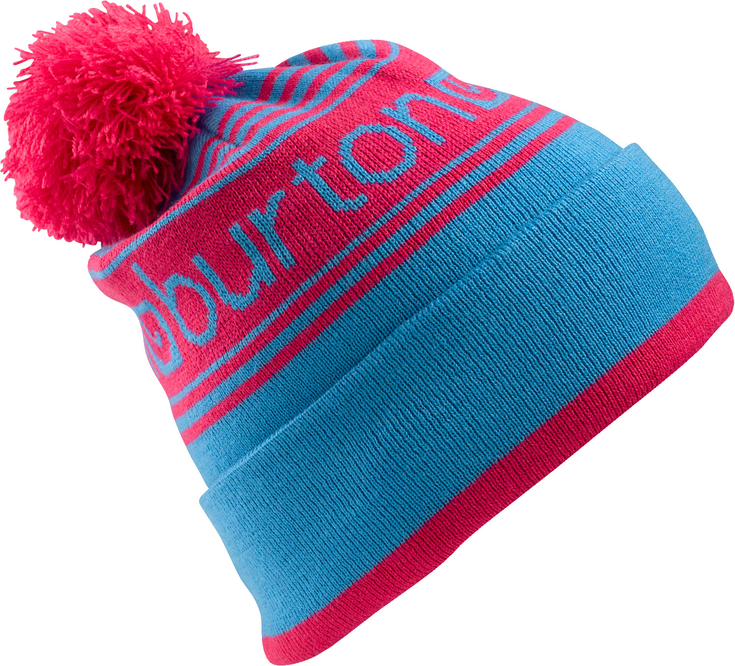 Snowboard Key Features of the Burton Trope Beanie: 100% Acrylic Logo Jacquard Fold Up with Skully Fit - $25.00