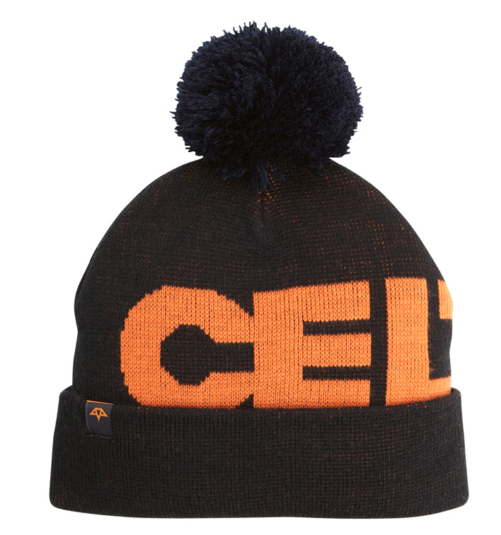 Key Features of the Celtek Circuit Beanie: 100% acrylic jersey knit beanie w/ removable pom pom Jacquarded artwork Custom woven jacquarded pinch label over cuff - $15.95