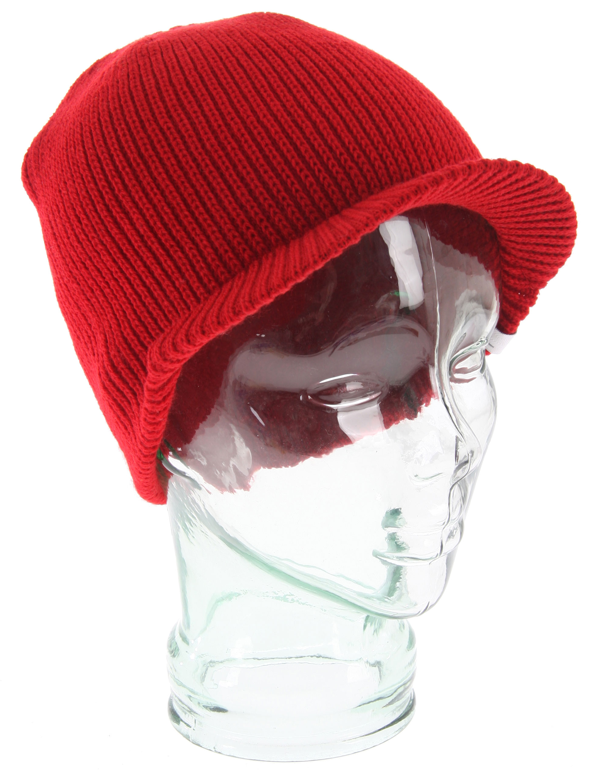 Fine rib knit texture and woven herringbone label make this the new standard in brim beanies. Acrylic. - $11.16