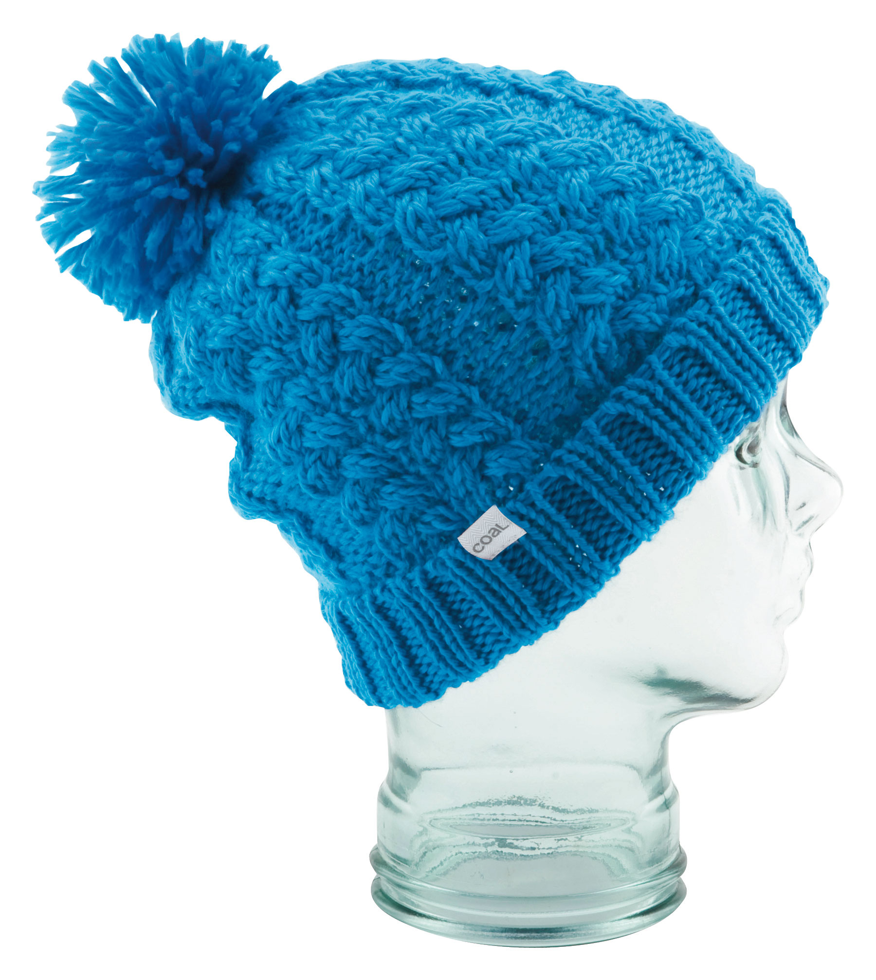 Playful, slightly oversized beanie with pom pom and rolled cuff for multiple wearing options. Made from silky acrylic.  Slightly oversized beanie   Pom-Poms    Rolled Cuff   Silky Acrylic - $16.95