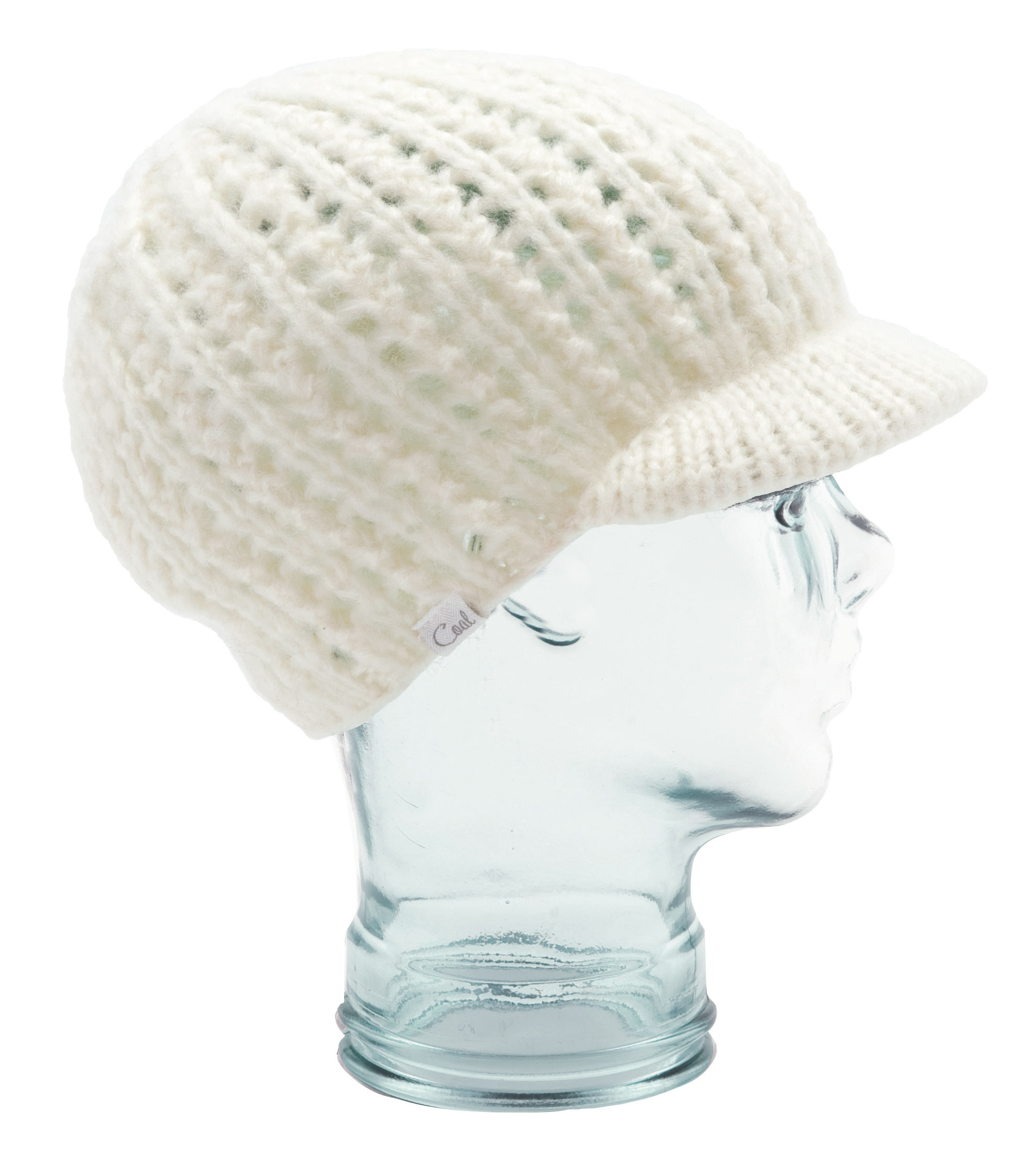 An oversized hand-knit brim beanie with beautiful texture and woven label detailing. Made from Mohair-like acrylic. - $24.95