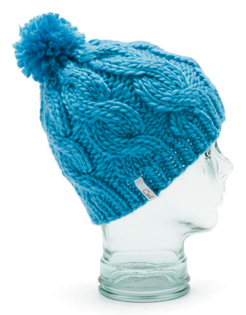 The timeless original chunky cable-knit beanie with pom-pom and 1x1 cuff. Silky Acrylic. - $23.95