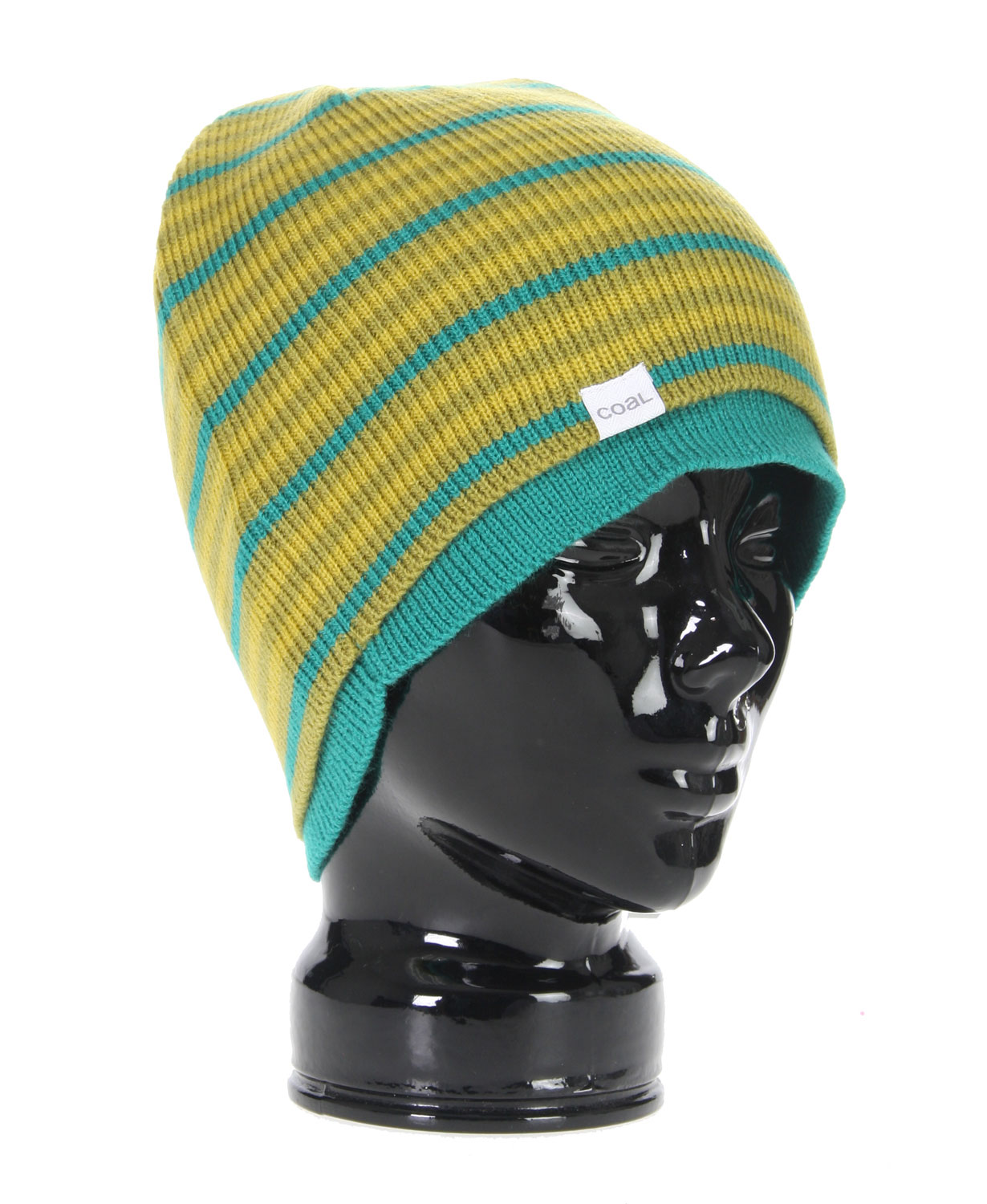 Two fine knit, single layer beanies, combined to create a beanie with a street look and modern fit. Cashmere like Acrylice100% Cashmere-like Acrylic - $18.95