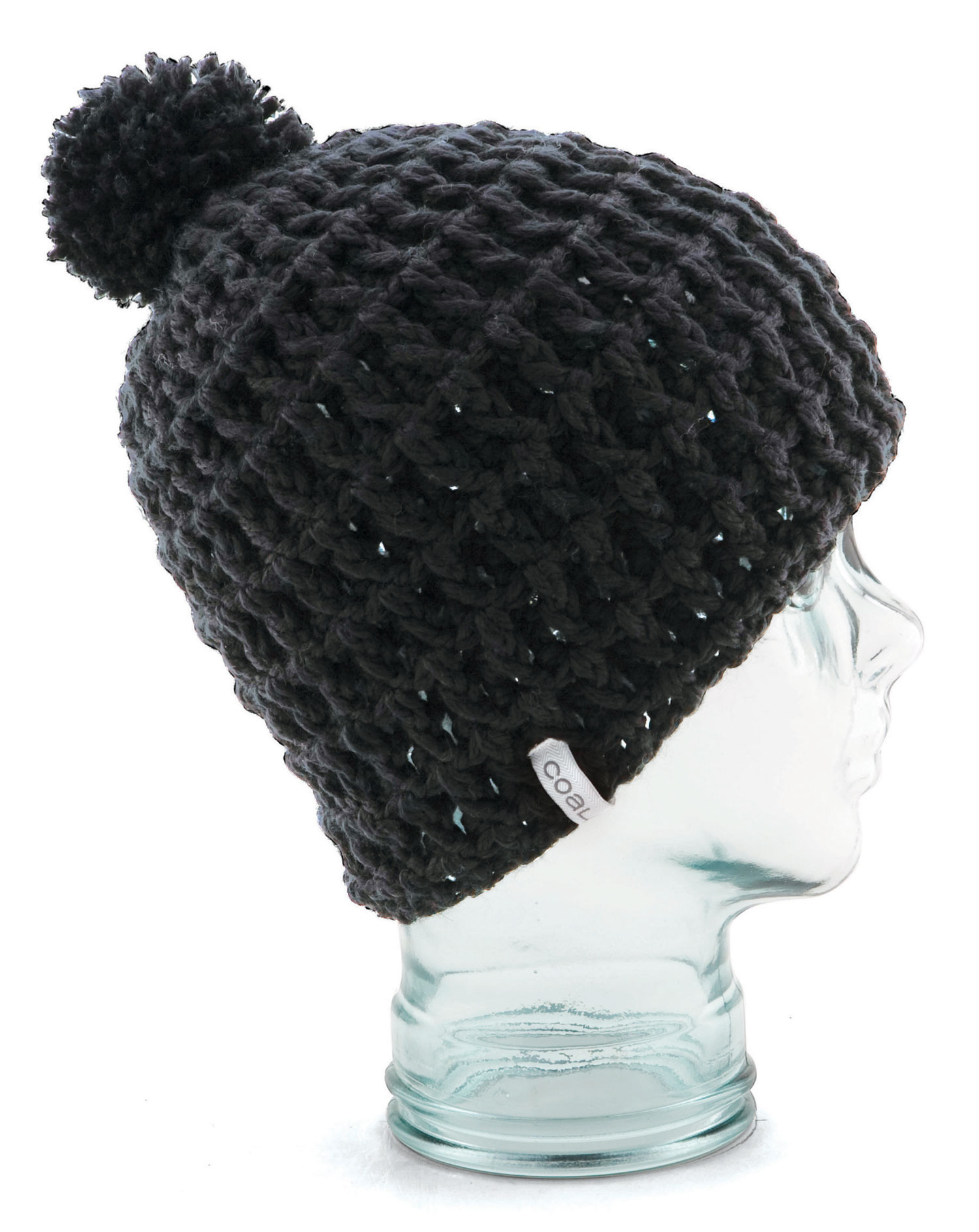 Our original hand-crocheted, waffle-knit beanie in a slightly scaled-down, yet modern size, updated for Fall 12 with fleece banding. Silky acrylic with fleece band. - $30.00