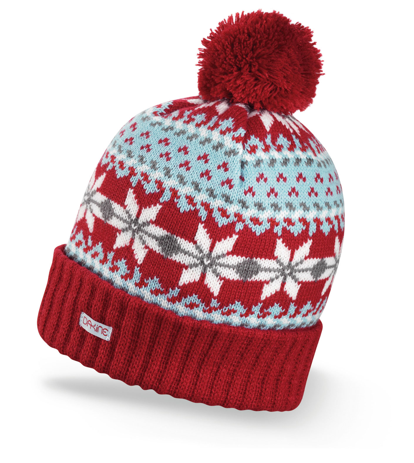 Snowboard Key Features of the Dakine Maggie Beanie: Double lined Acrylic Classic fair isle knit with ribbed cuff - $19.95