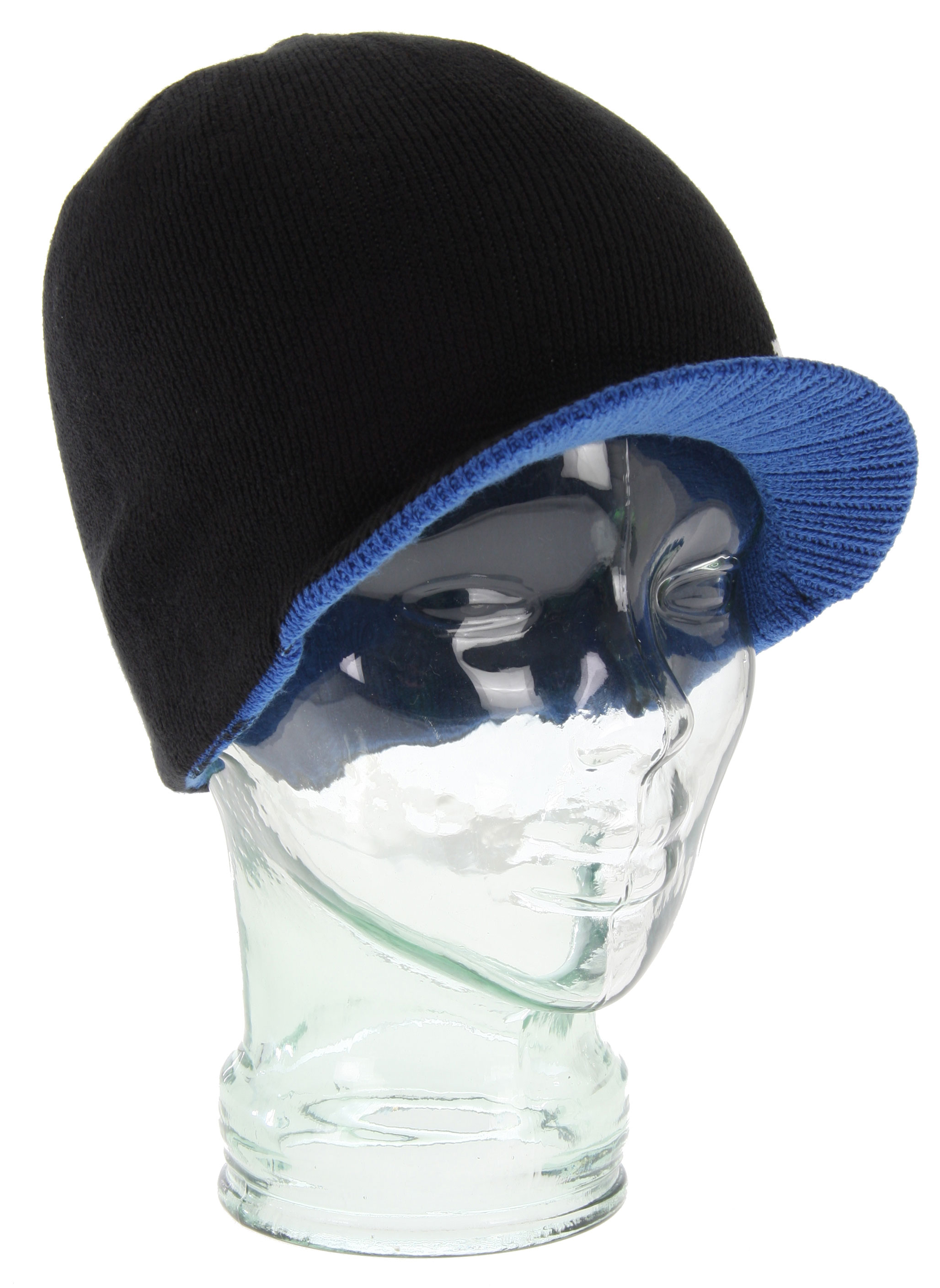 Key Features of the DC Cascata Beanie Black/Lapis: 95% acrylic/ 5% spandex 4-way stretch reversible men's standard fit visor beanie - $16.77