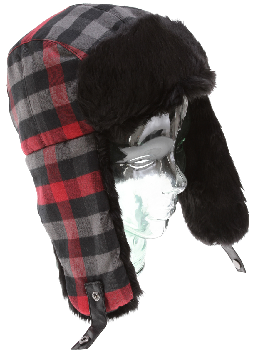 Bomber flannel beanie style, poly insulated, with satin quilted lining, fur earflap and front flap lined with metal badge.Key Features of the DC Wyntir Beanie: Fit: elmer fudd 100% polyester flannel - $35.00