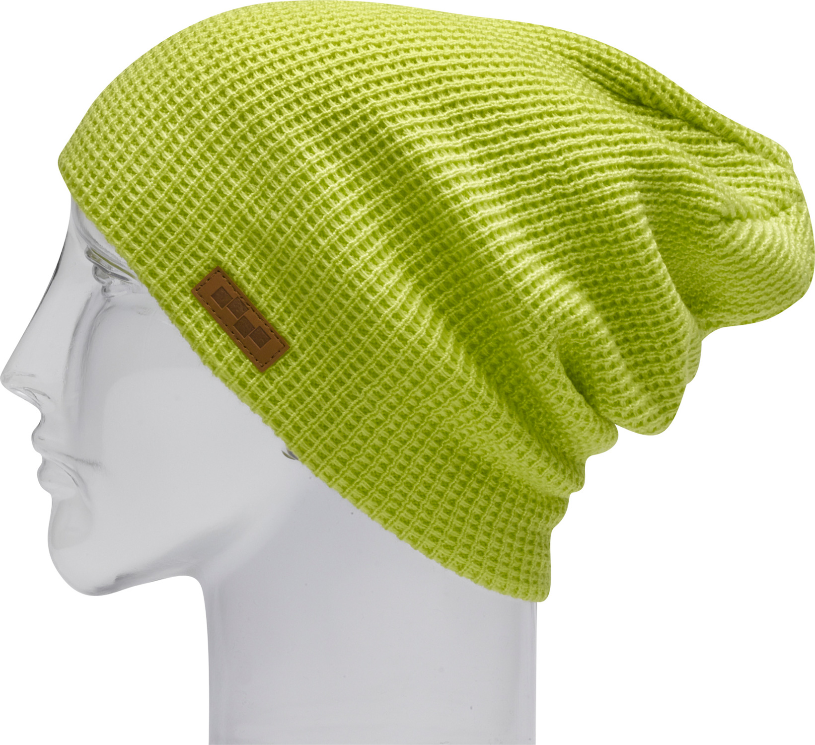 "Snowboard Key Features of the Foursquare Crane Beanie: 7 Gauge Cable Knit 13"" Tall Machine Knit Waffle Knit - $23.95"