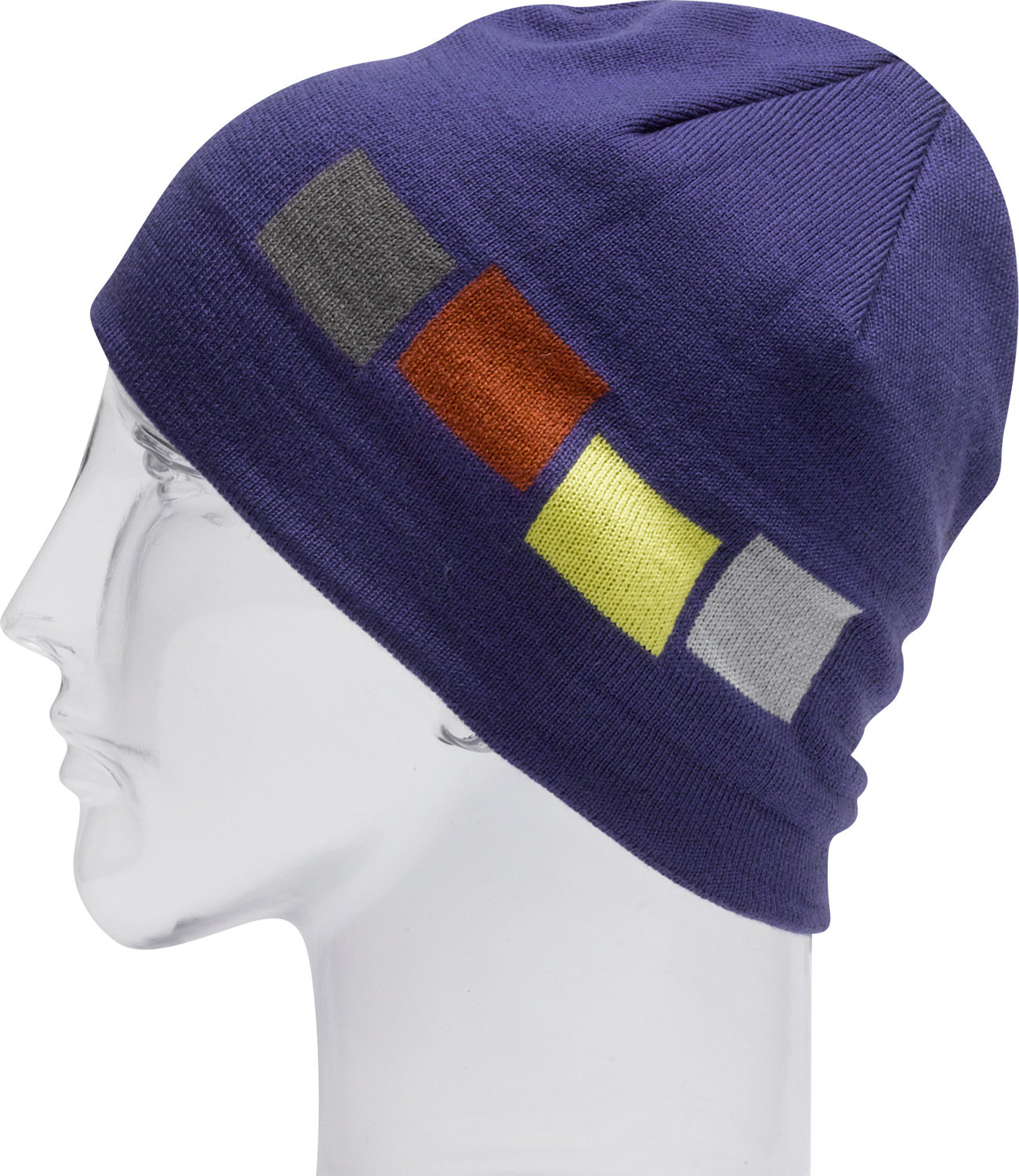 "Snowboard Key Features of the Foursquare Emblem Beanie: 100% Soft Acrylic 9"" Tall Machine Intarsia Knit - $13.95"