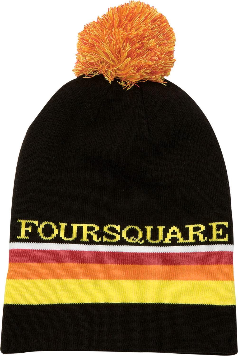 Snowboard Guys you are going to FLIP for this new Foursquare Rope Tow Beanie. Show a little bit more of your playful side with the bright color patterns and the mix color pom. The engineer strip logo rests proudly on the beanie, and is created out of a 95/5 mix of acrylic and spandex for ultimate durability and comfort. The machine knit piece means long lasting durability, and lower cost for you. Why don't you order yours today!Key Features of The Foursquare Rope Tow Beanie: Engineer strip logo Machine knit 95% acrylic 5% spandex Mix color pom - $11.95