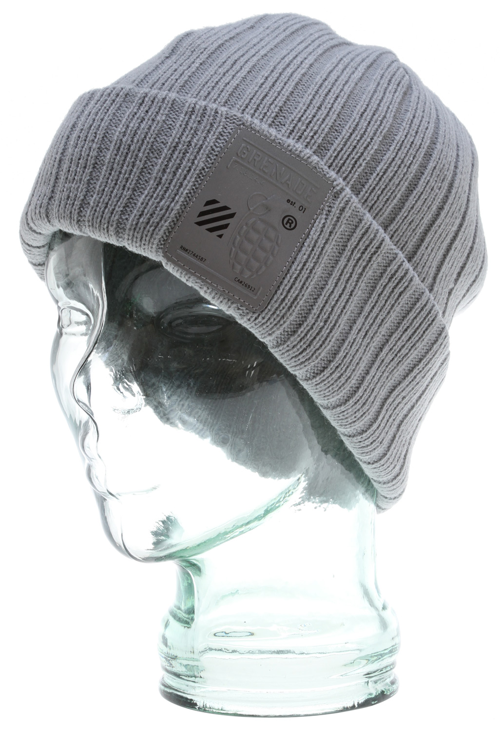 Key Features of the Grenade Flip Up Beanie : 100% Acrylic Reflective logo patch - $7.95
