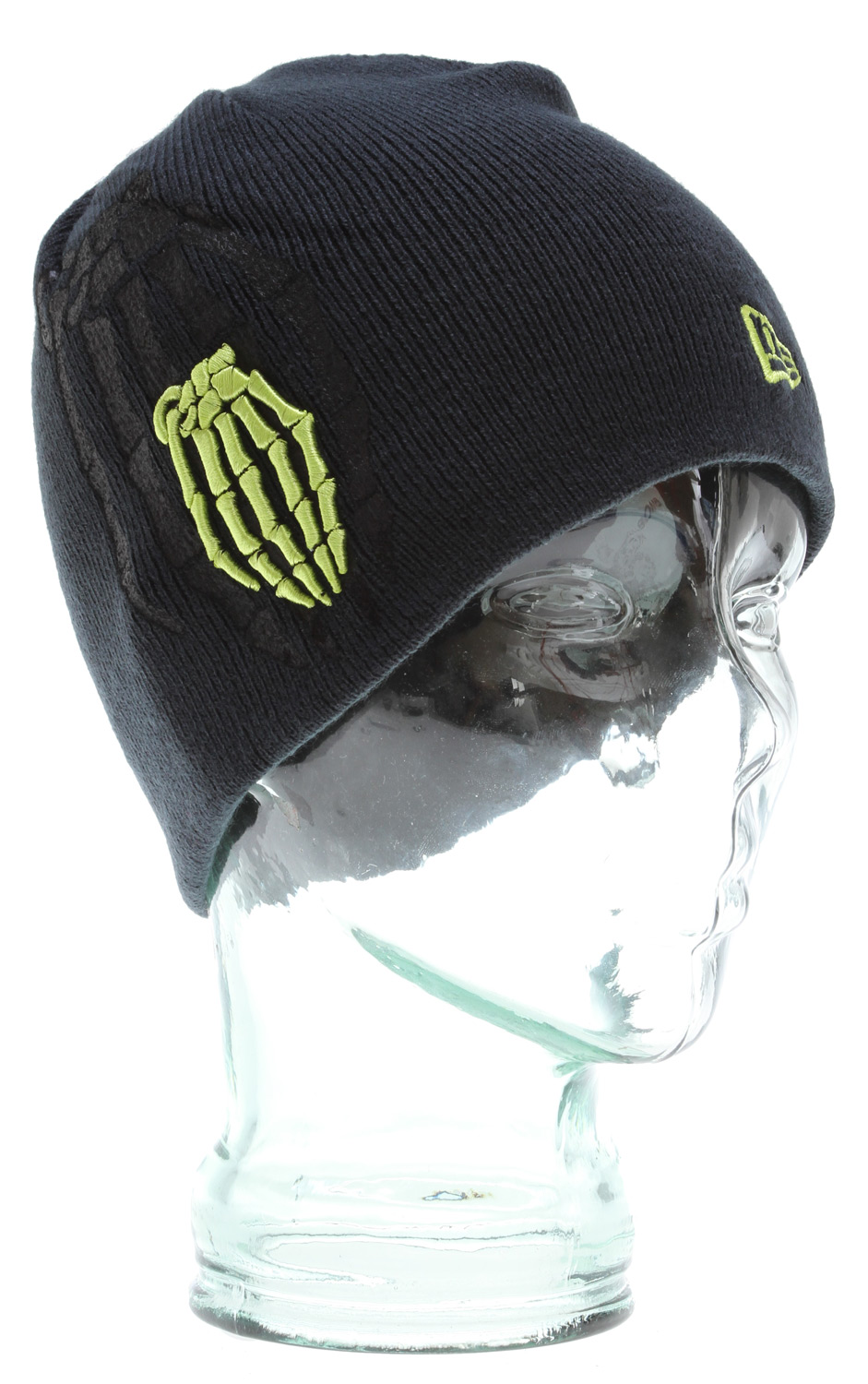 Key Features of the Grenade New Era Skull Bomb Shadow Beanie : 100% Acrylic Embroidered & screen print graphics - $17.95