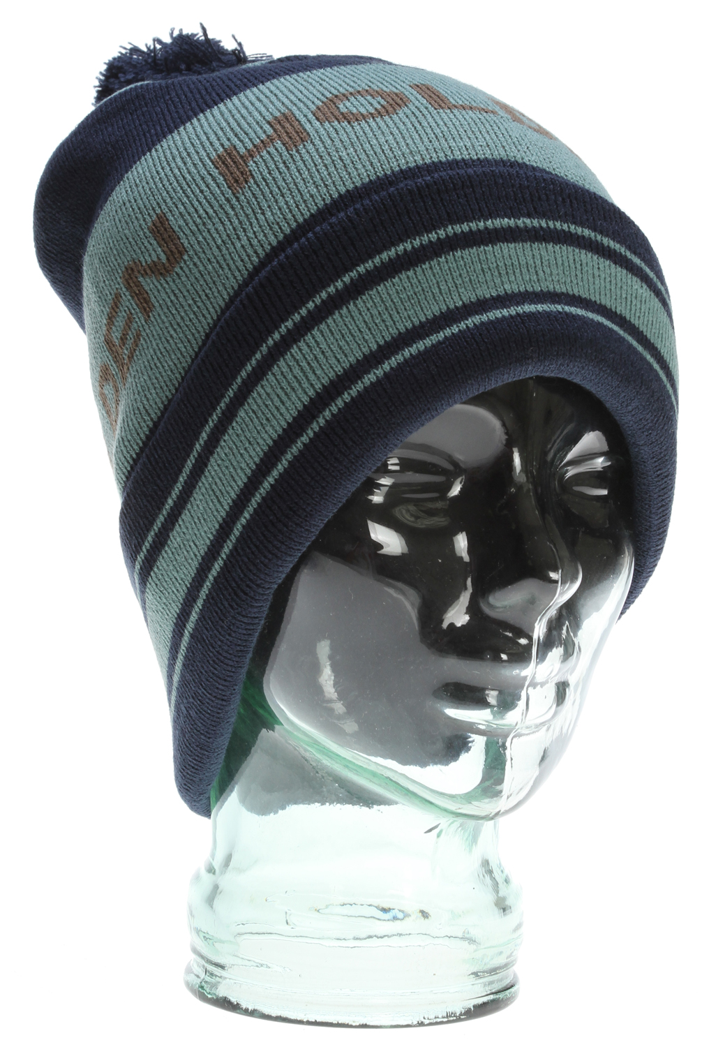 Snowboard Mid-weight double layer jacquard knit with easy to remove pom. 100% Acrylic - $11.95
