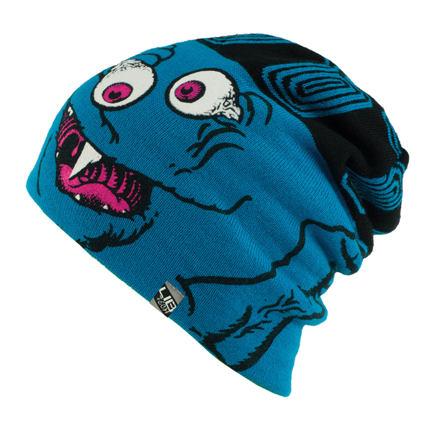 Key Features of the Lib Tech Reversible Booger Beanie:  100% Acrylic  Reversible beanie with screen print and jacquard FD  Art by Matt French - $14.95