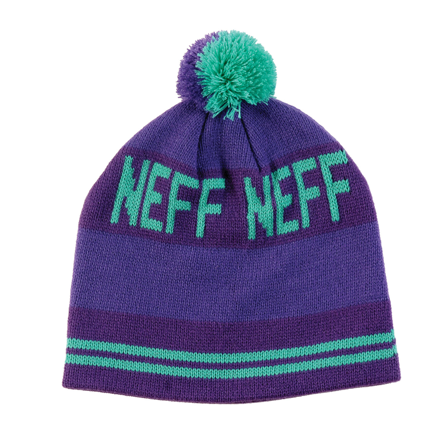 Skateboard Key Features of the Neff Classic Beanie Classic Style Skull Fit with Pom Pom 100% Acrylic - $13.95