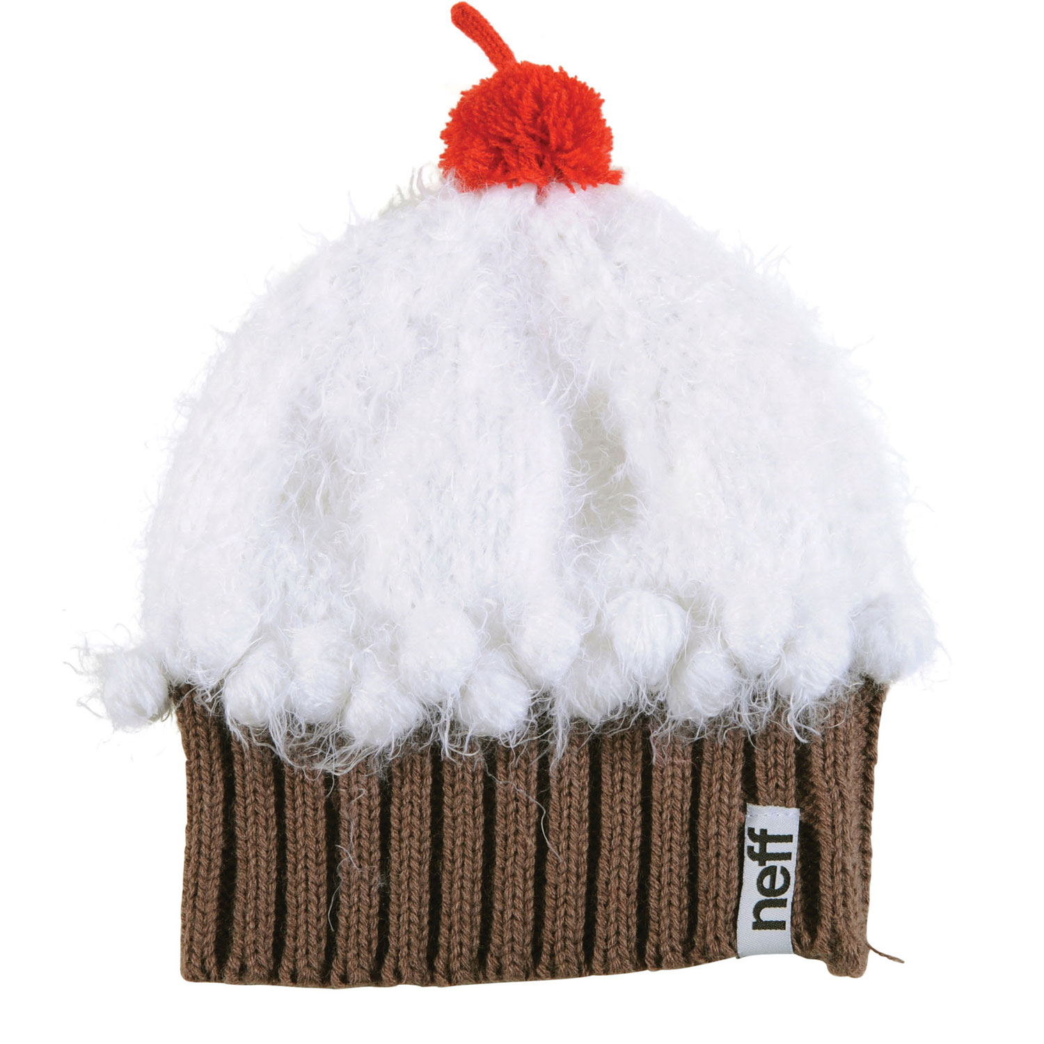 Skateboard Key Features of the Neff Fuzzy Cupcake Beanie: 80% Acrylic, 20% Polyester - $28.00