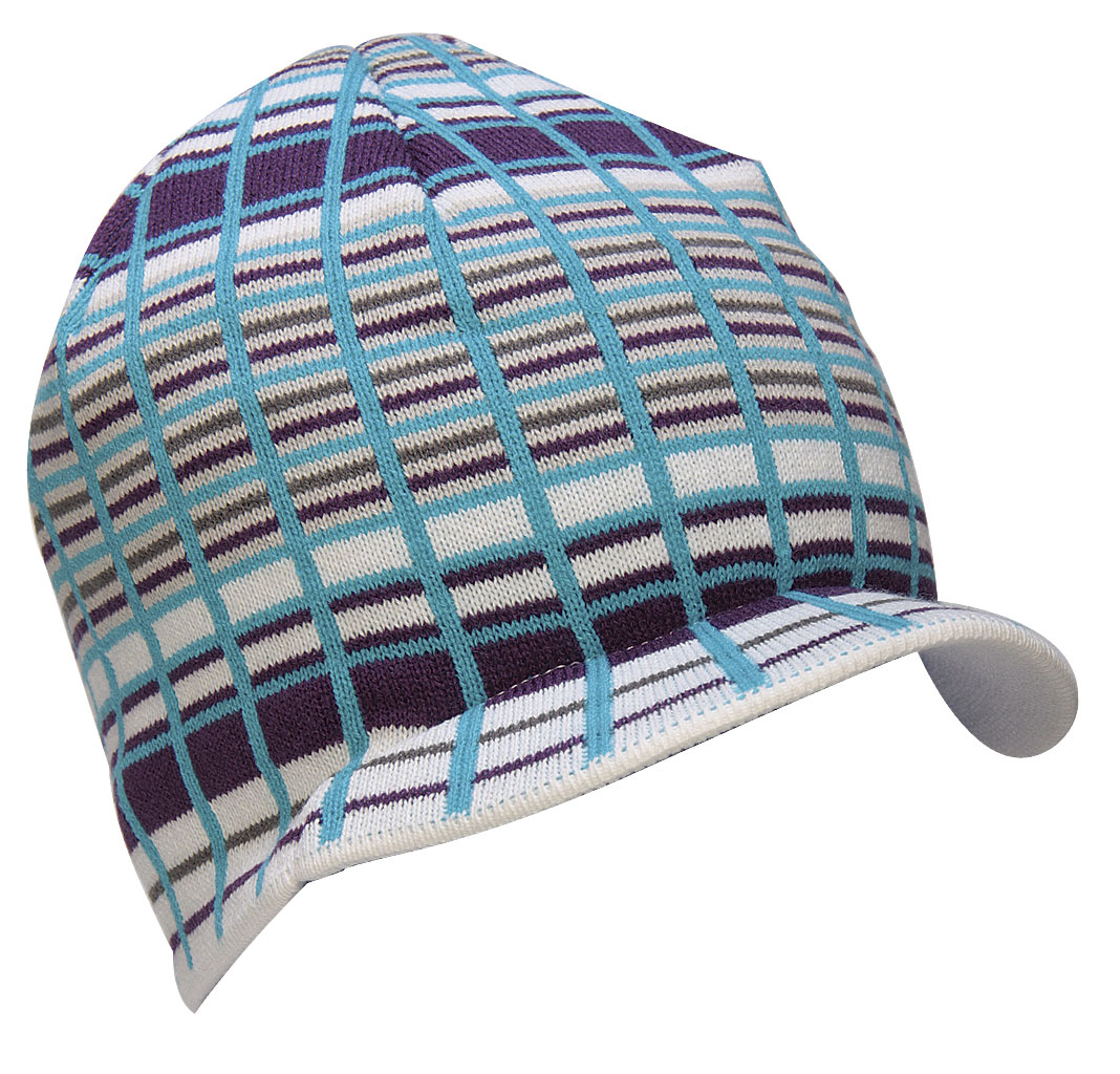 The Special Blend Decon Plaid Visor Beanie - 100% Soft Acrylic / Machine Knit / One Size Fits All - $9.95