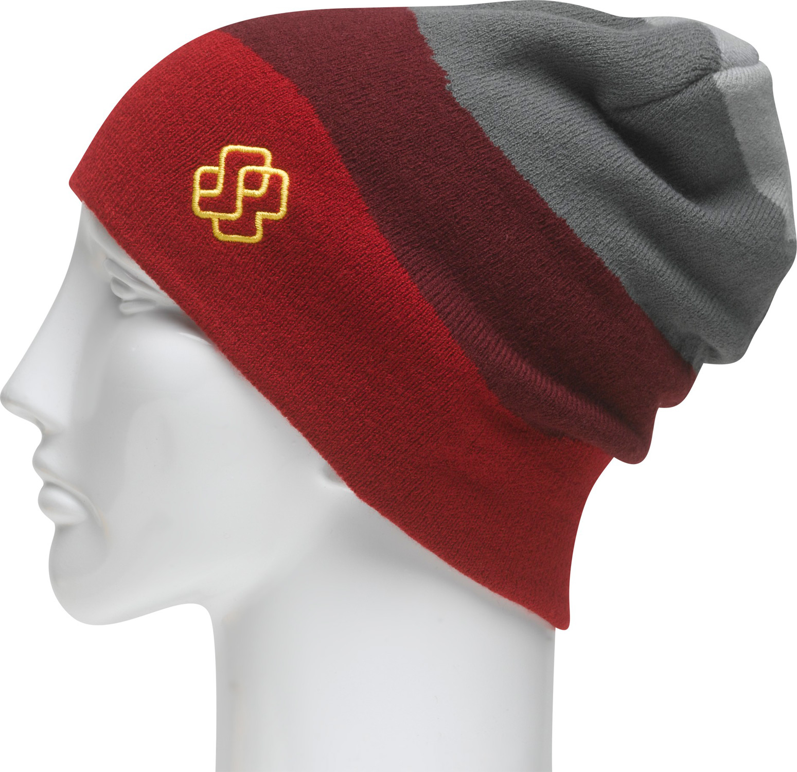 Key Features of the Special Blend Freedom Beanie: Machine Knit 97% Acrylic 3% Spandex Slouch Style Magic Knit Jacquard With Stripes - $23.99