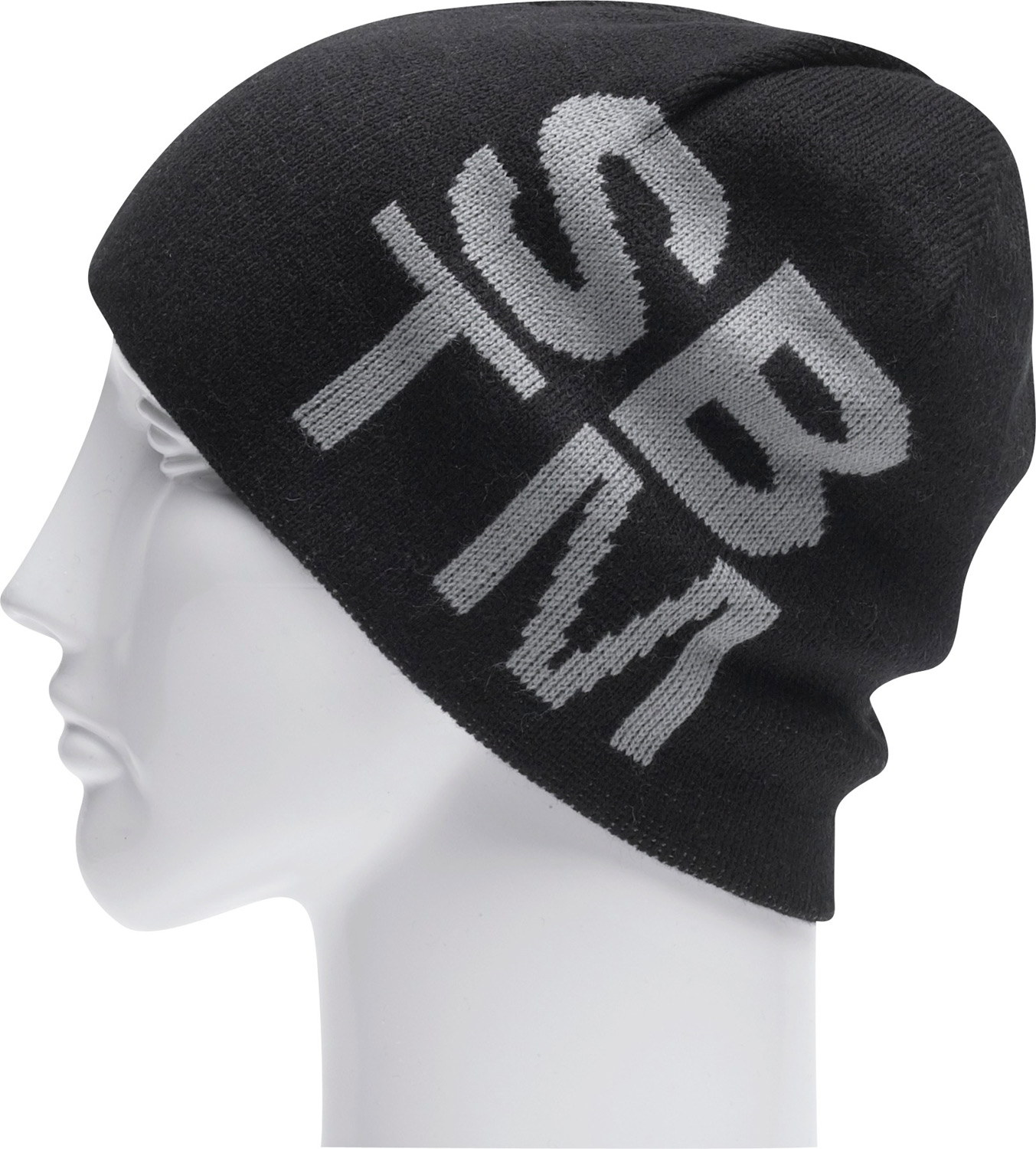 "Key Features of the Special Blend Noble Beanie:  Machine knit  100% acrylic  8 1/2"" tall  Reversible jacquard  One size fits all - $12.95"
