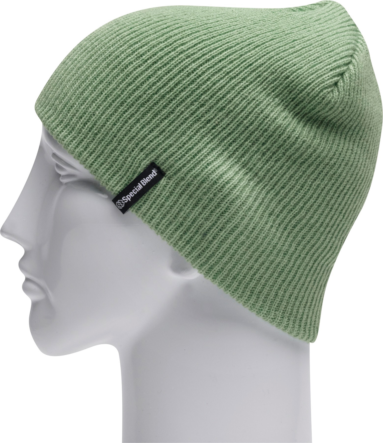 "Key Features of the Special Blend Traverse Beanie: Machine knit 100% acrylic 9 1/2"" tall 1x1 fine rib One size fits all - $13.95"