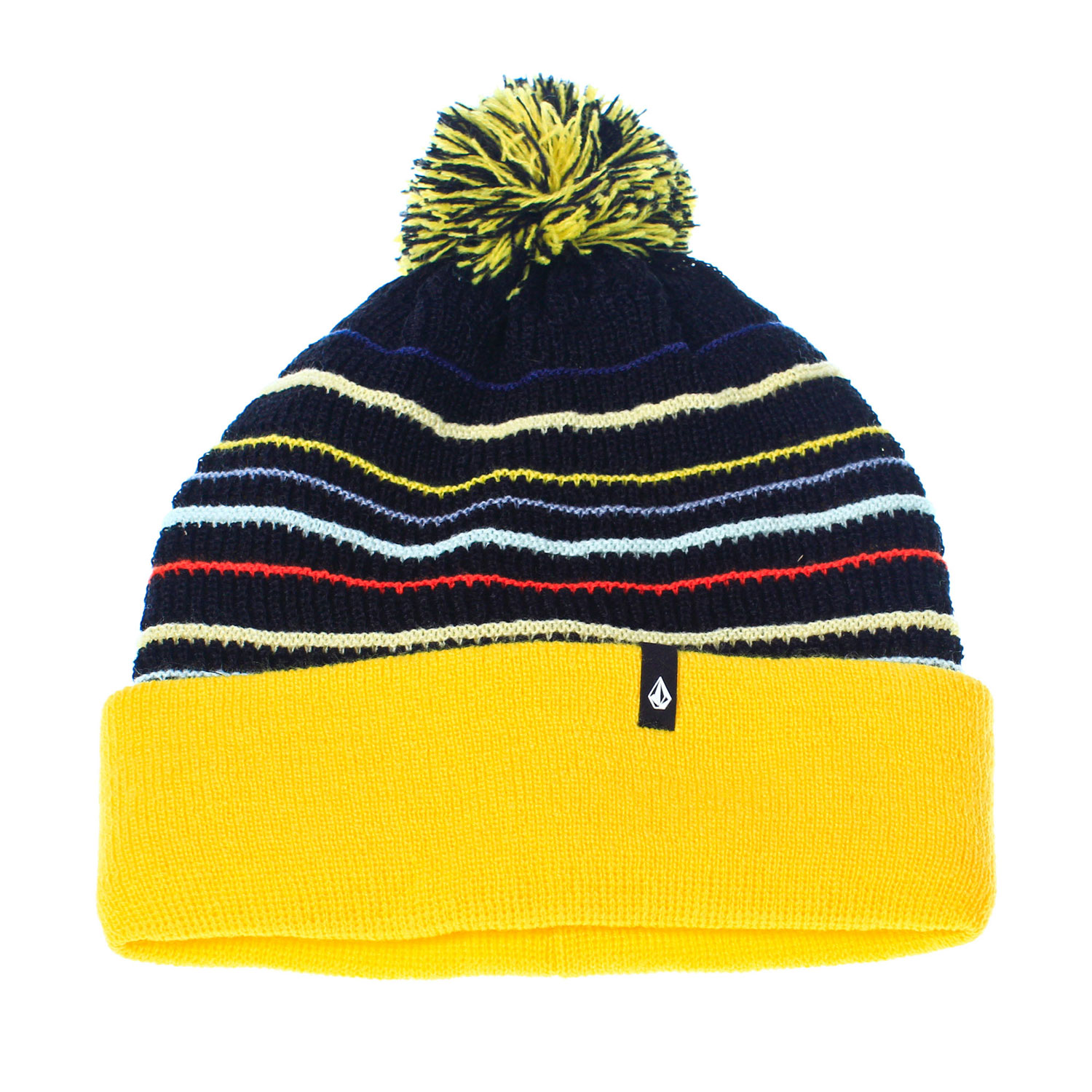 Surf Key Features of the Volcom Adel Beanie: One Size Fits Most Machine Knit Acrylic Rollover Pom Pom Woven Clamp Label Roll Over Fit - $20.95