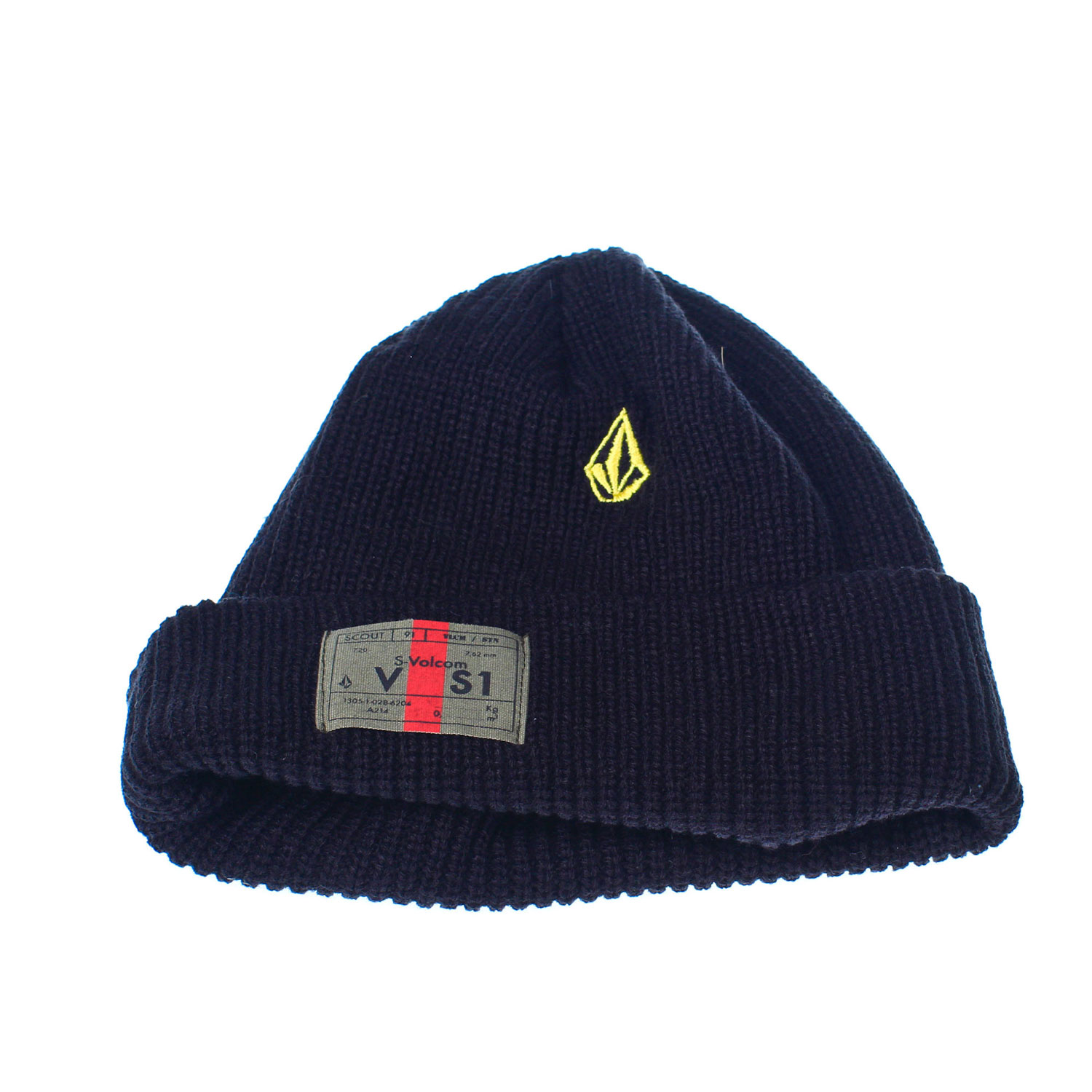 Surf Key Features of the Volcom Clone Beanie: One Size Fits Most Machine Knit Acrylic Fleece Lined Roll Over Stone Embroidery Military Woven Label Roll Over Fit - $20.00