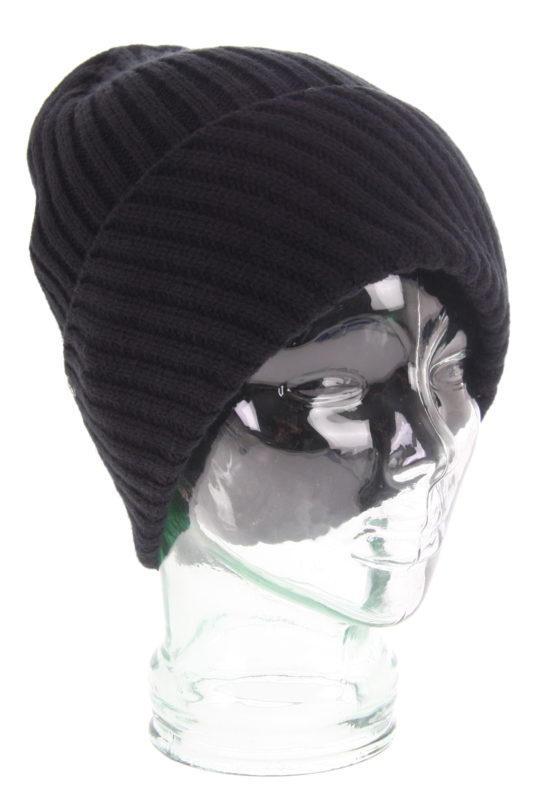 Surf Key Features of the Volcom Liv'n Beanie: Slightly Longer Heathered Knit Beanie With Metal Enamel at Cuff 100% Acrylic - $20.95