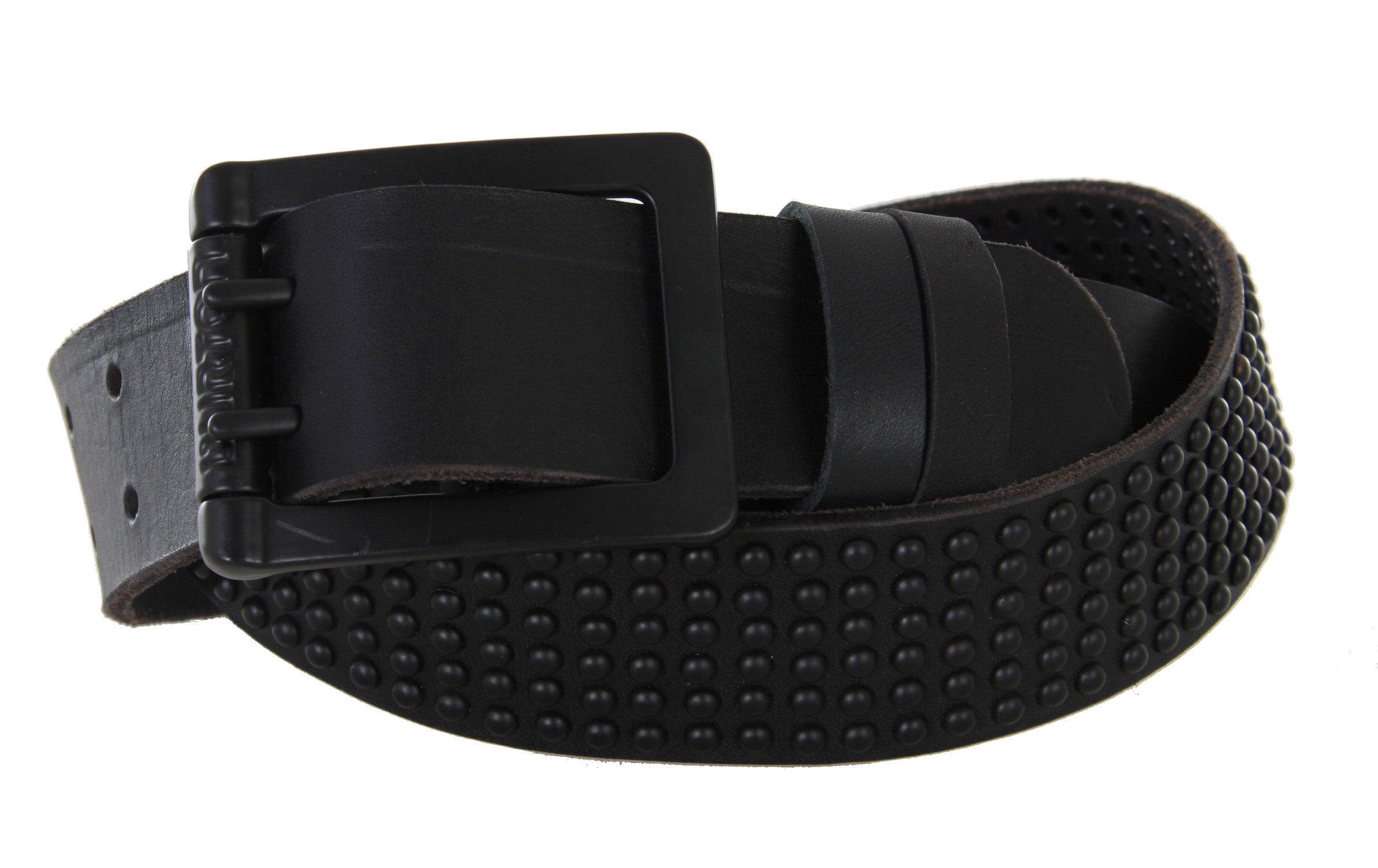 Snowboard The Burton Premium Studded Belt is a great buy. It provides an abundance of comfort, and looks great for use in virtually any setting or situation. As its name implies, it is studded with rivets across its entire elastic body, providing a quality aesthetic that gives it a great feel. The buckle has hints of metal on its buckle, with a metal fabric roll on it that compliments the rest of the belt's design to great effect. Every aspect of the belt works with each other to make a belt of very fine quality.Key Features of the Burton Premium Studded Belt: Full Grain Leather Belt Circular Full Rivet Studs Metal Fabric Roll on Buckle Metal Burton Mountain Logo Trim - $31.46